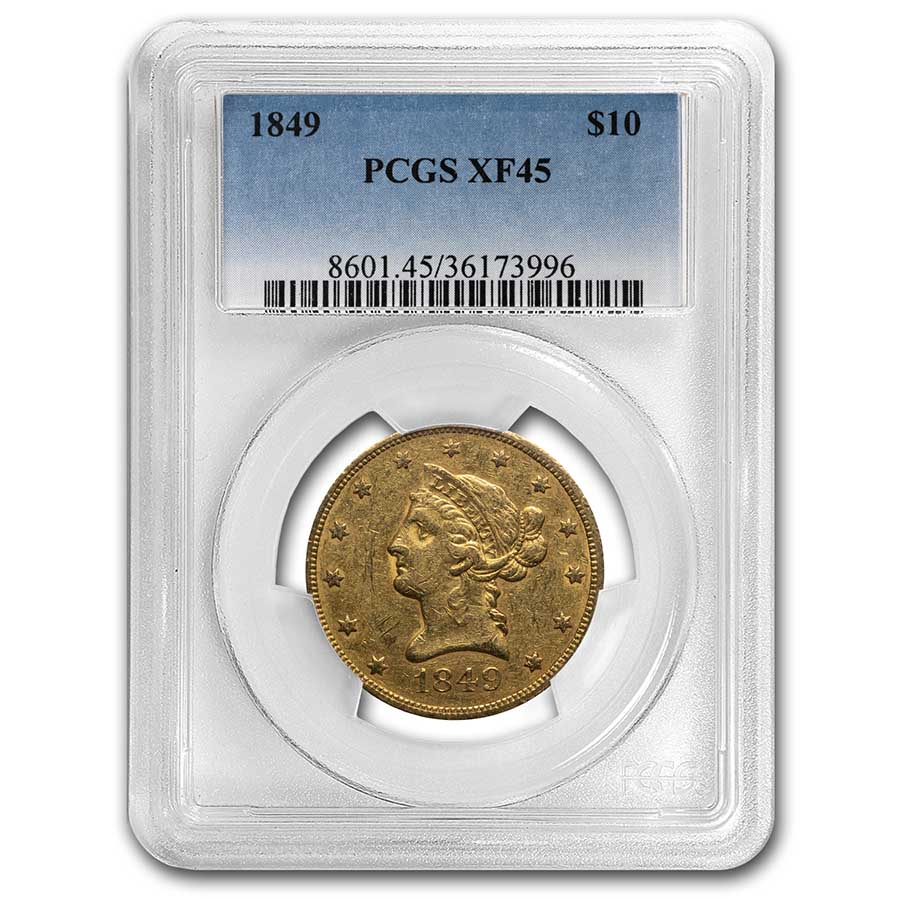1849 $10 Liberty Gold Eagle XF-45 PCGS