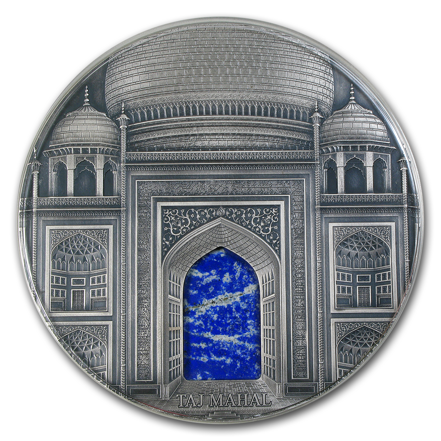 2014 Fiji 1 kilo Silver Taj Mahal Antique Finish Coin