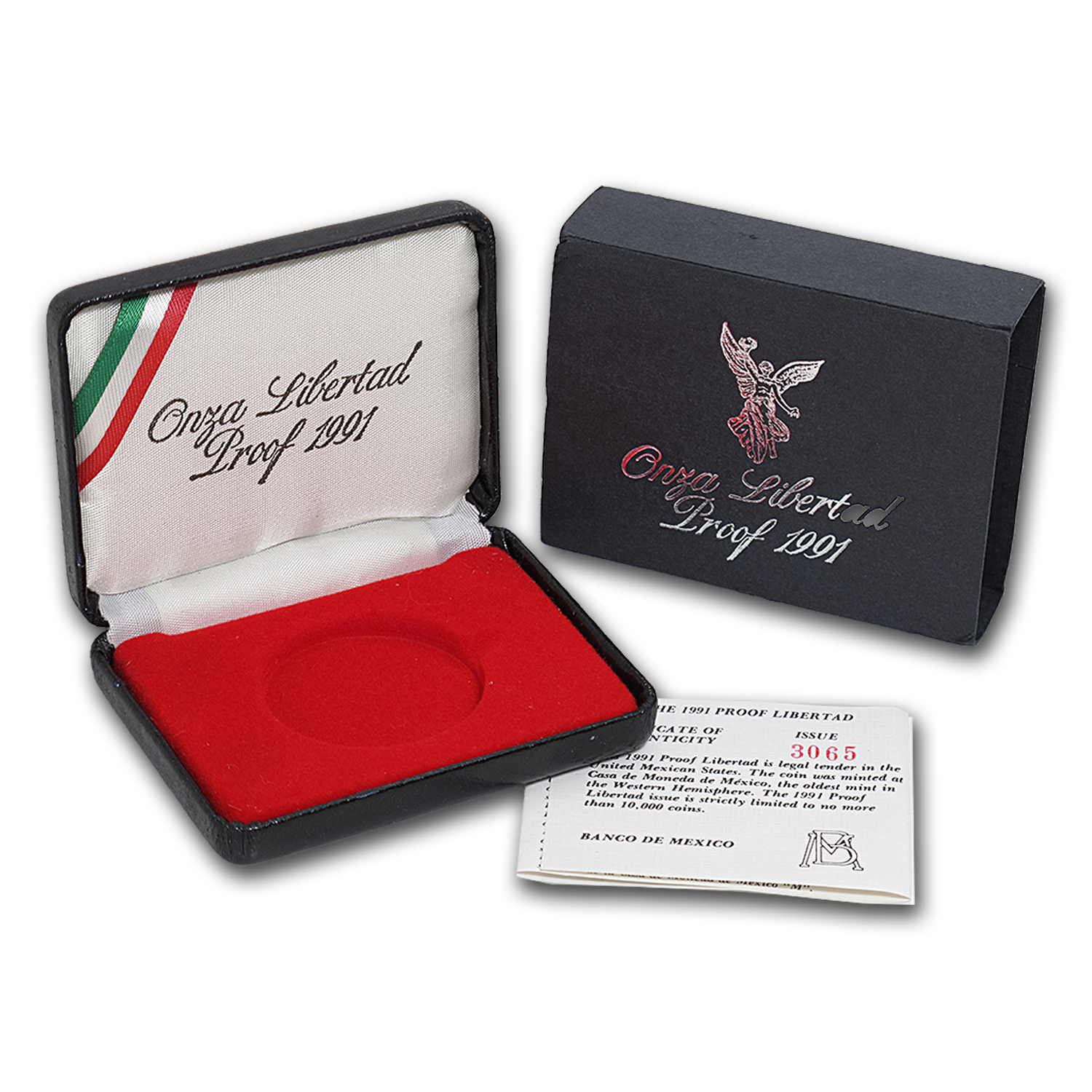 OEM Box & COA - 1991 1 oz Silver Proof Mexican Libertad
