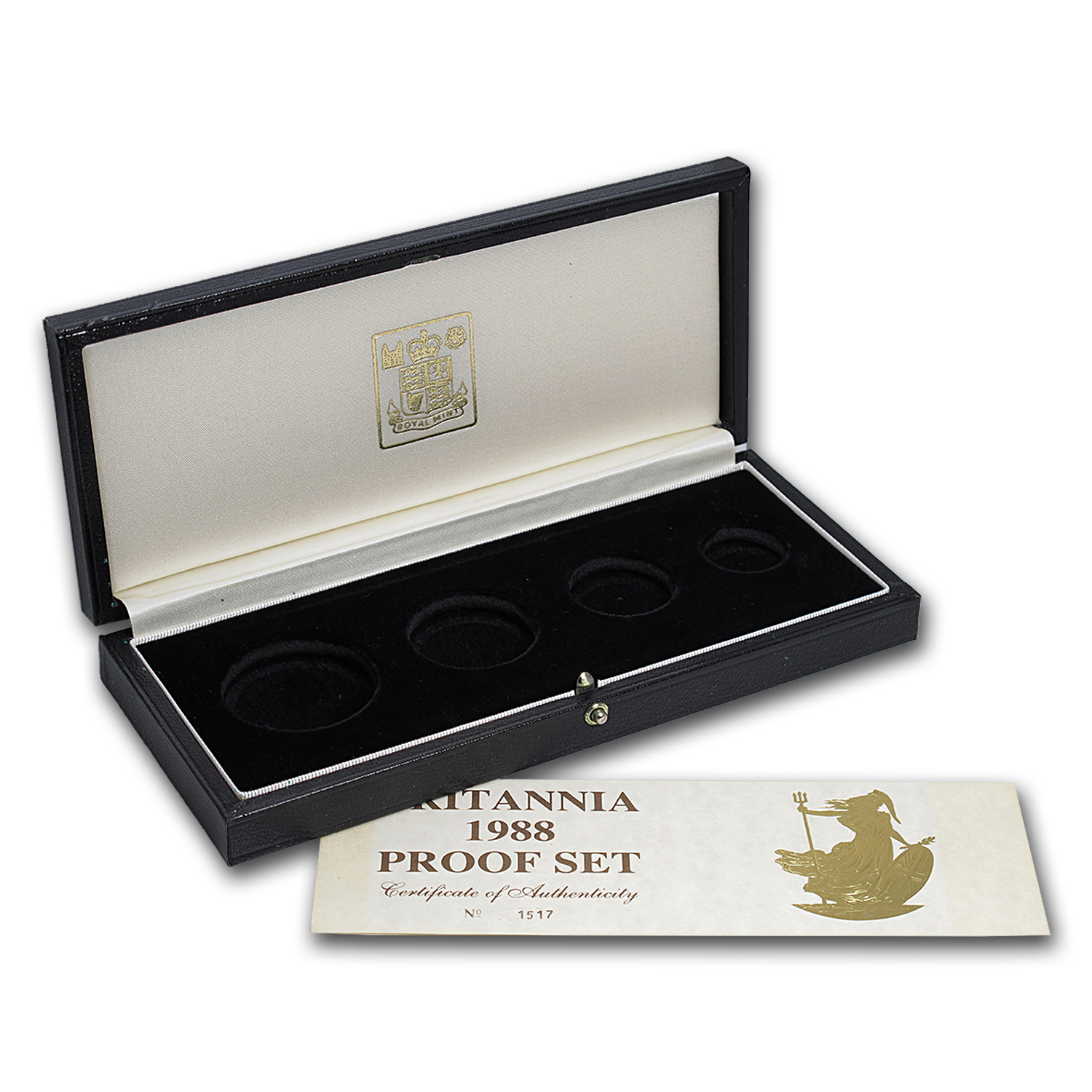 OGP Box & COA - 1988 Proof Gold Britannia 4-Coin Set