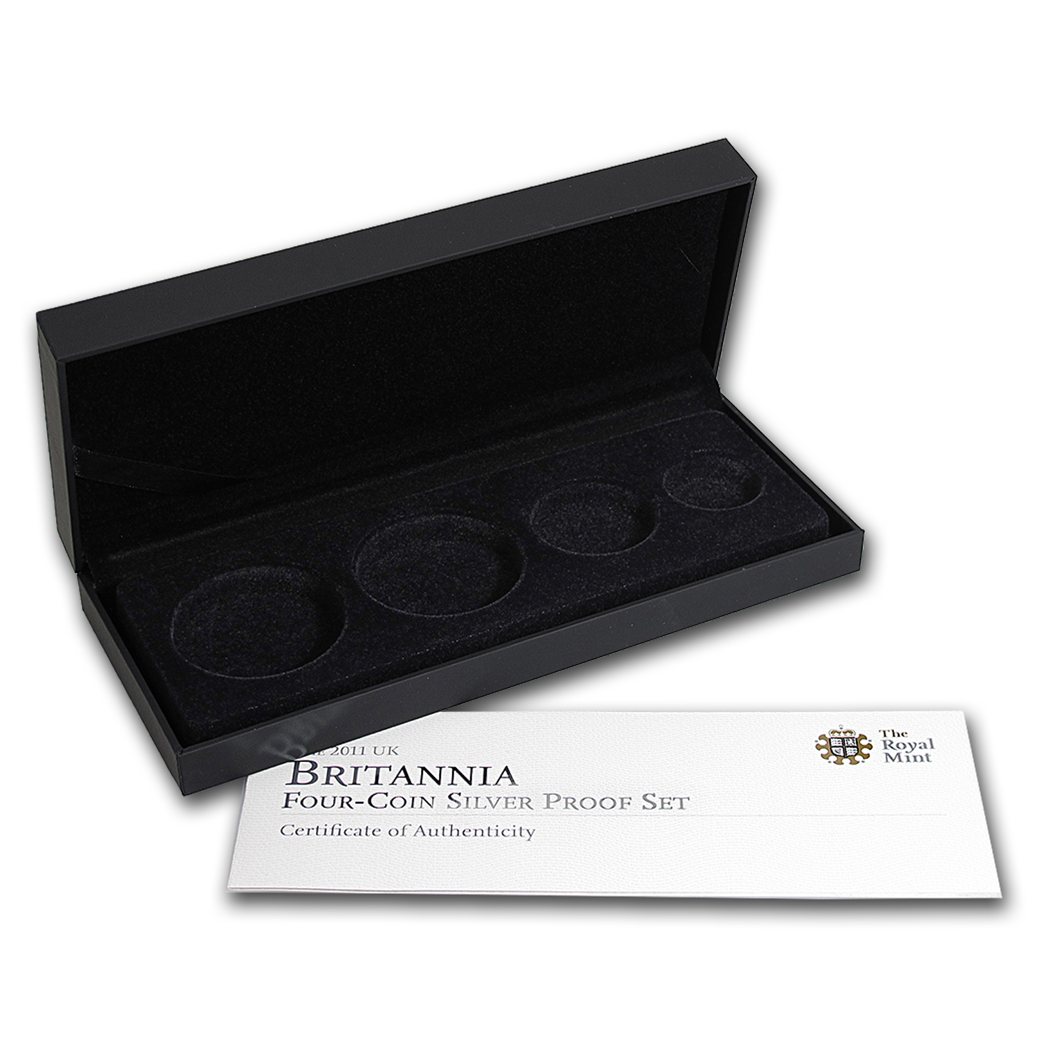 OEM Box & COA - 2011 Royal Mint 4-Coin Silver Proof Britannia Set