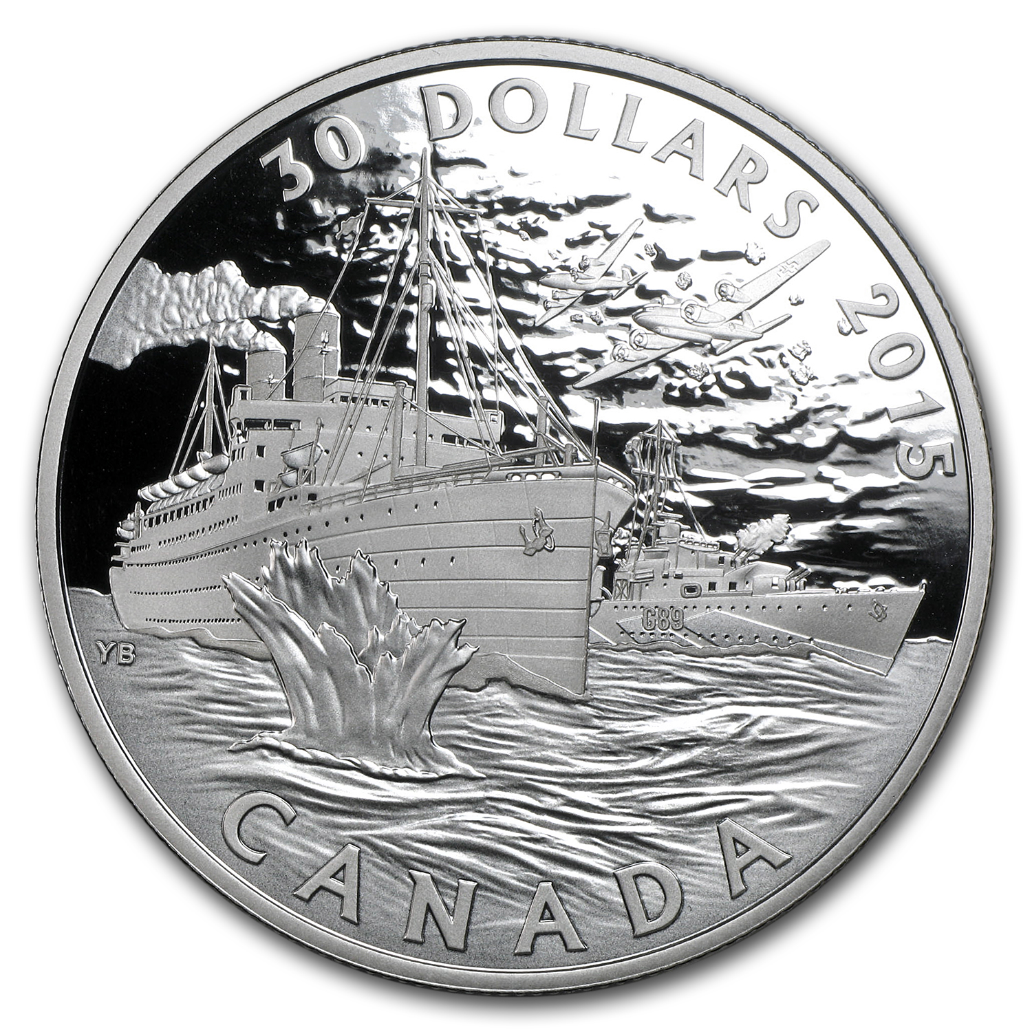 2015 Canada $30 Navy in the Battle of the Atlantic Proof