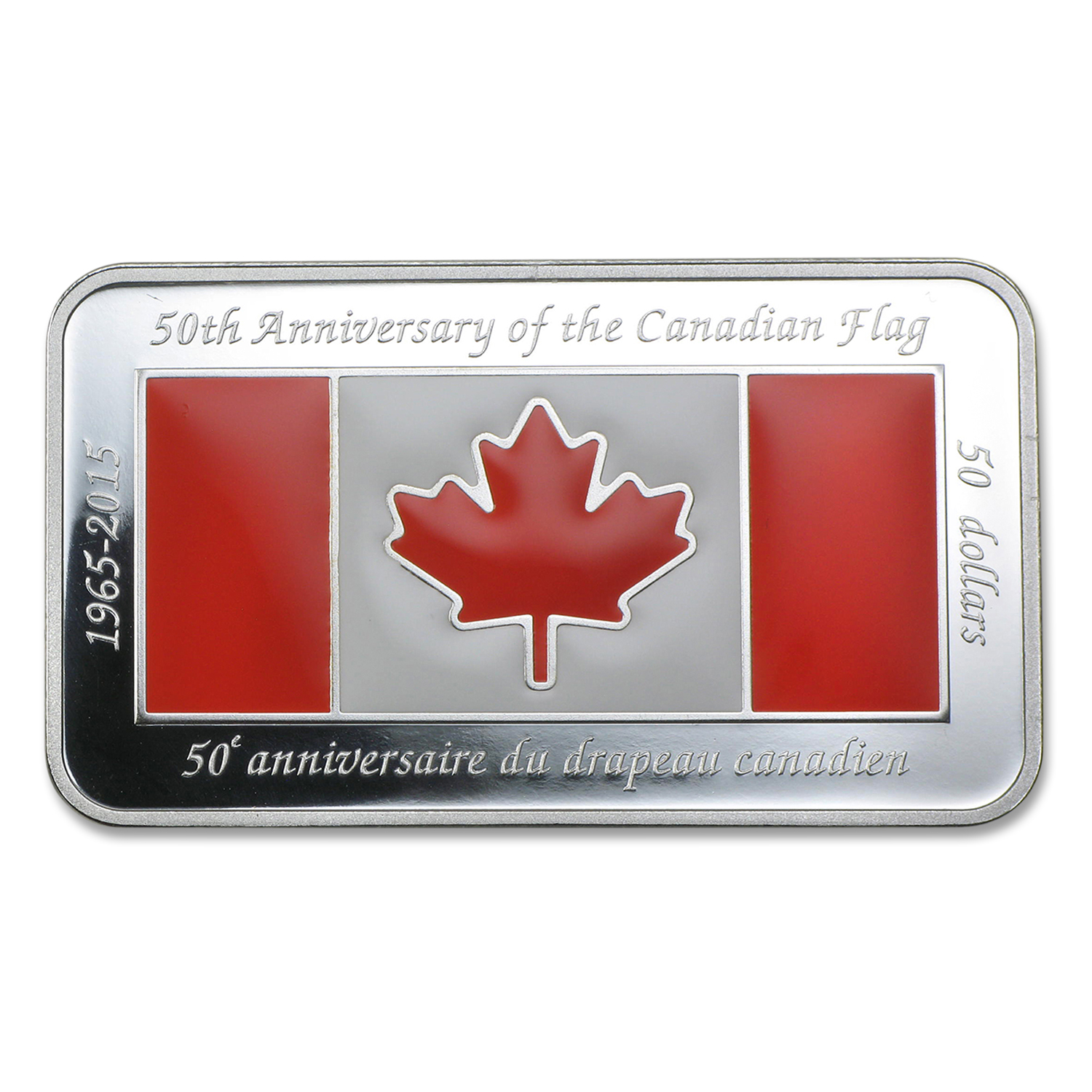 2015 Canada 1.5 oz Silver $50 Anniversary of the Canadian Flag