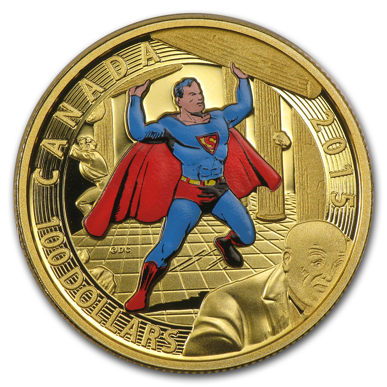 2015 Canada Proof Gold Iconic Superman™ Comic Book Covers (#4)