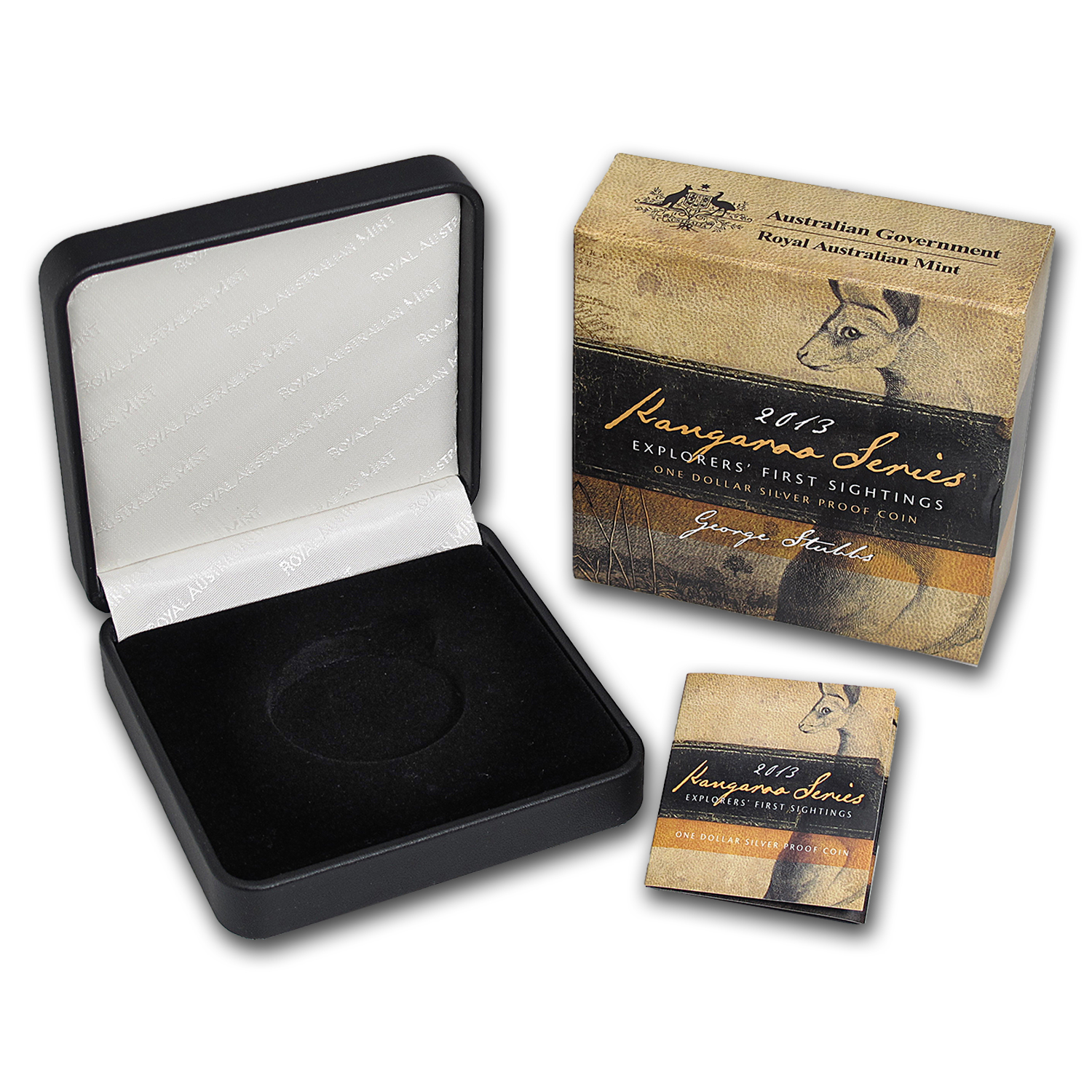 OEM Box & COA - 2013 RAM Silver Proof Kangaroo 1 oz Coin