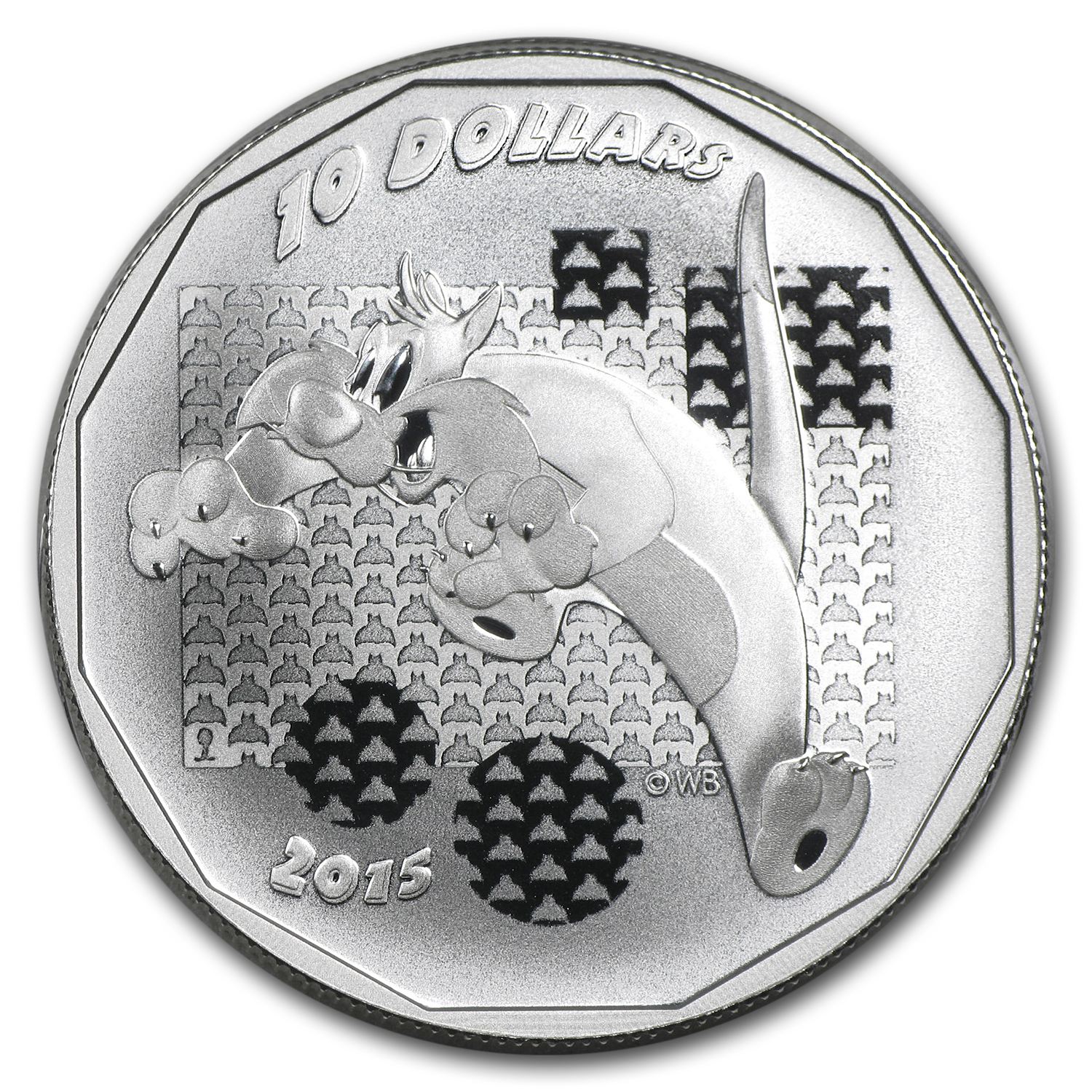 2015 Canada 1/2 oz Silver $10 Looney Tunes Sylvester the Cat