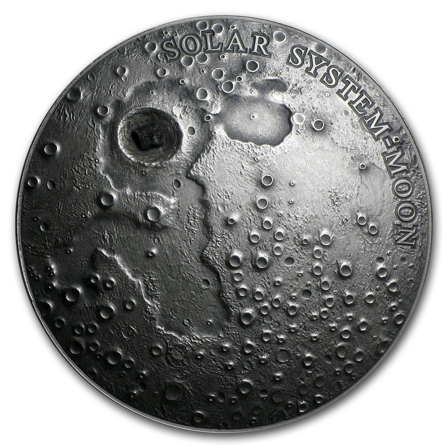2015 Niue 1 oz Silver Ultra High Relief Solar System (Lunar Moon)