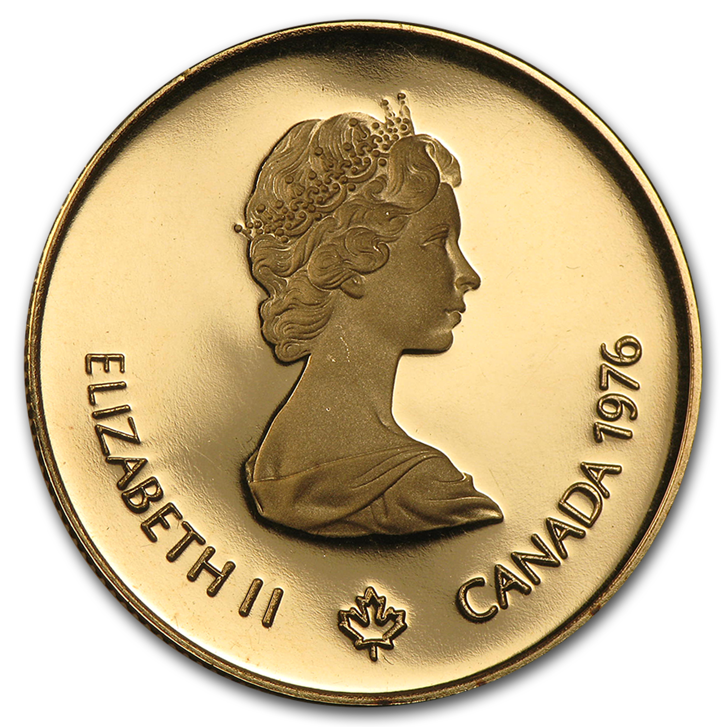 1976 Canada 1/2 oz Proof Gold $100 Olympic (Box and COA)