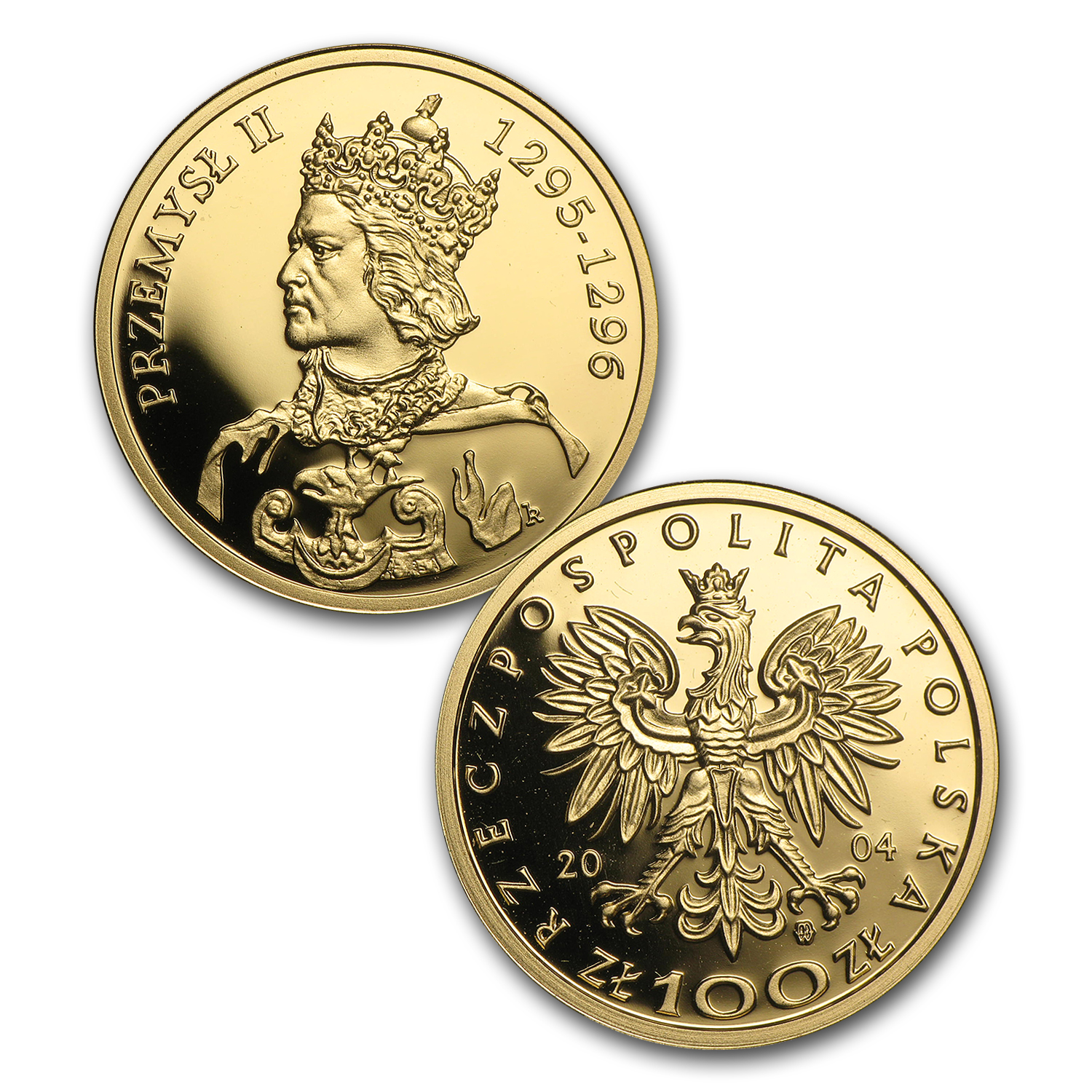 2004 Poland Proof Gold 100 Zlotych Polish Kings