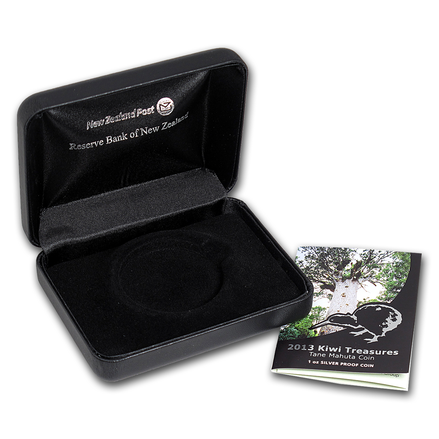 OGP Box & COA - 2013 New Zealand 1 oz Silver Treasures $1 Kiwi PF