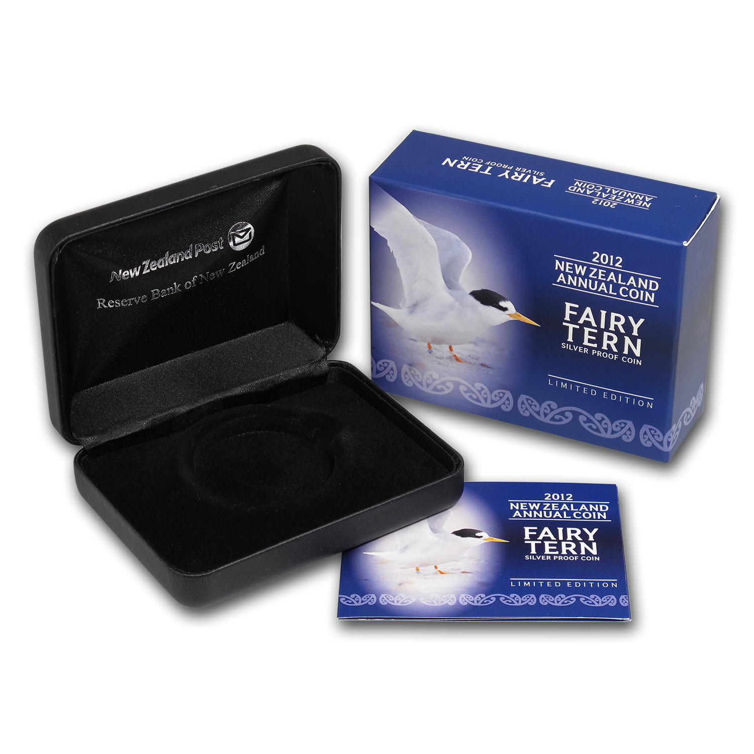 OGP Box & COA - 2012 New Zealand 1 oz Silver $5 Fairy Tern Coin