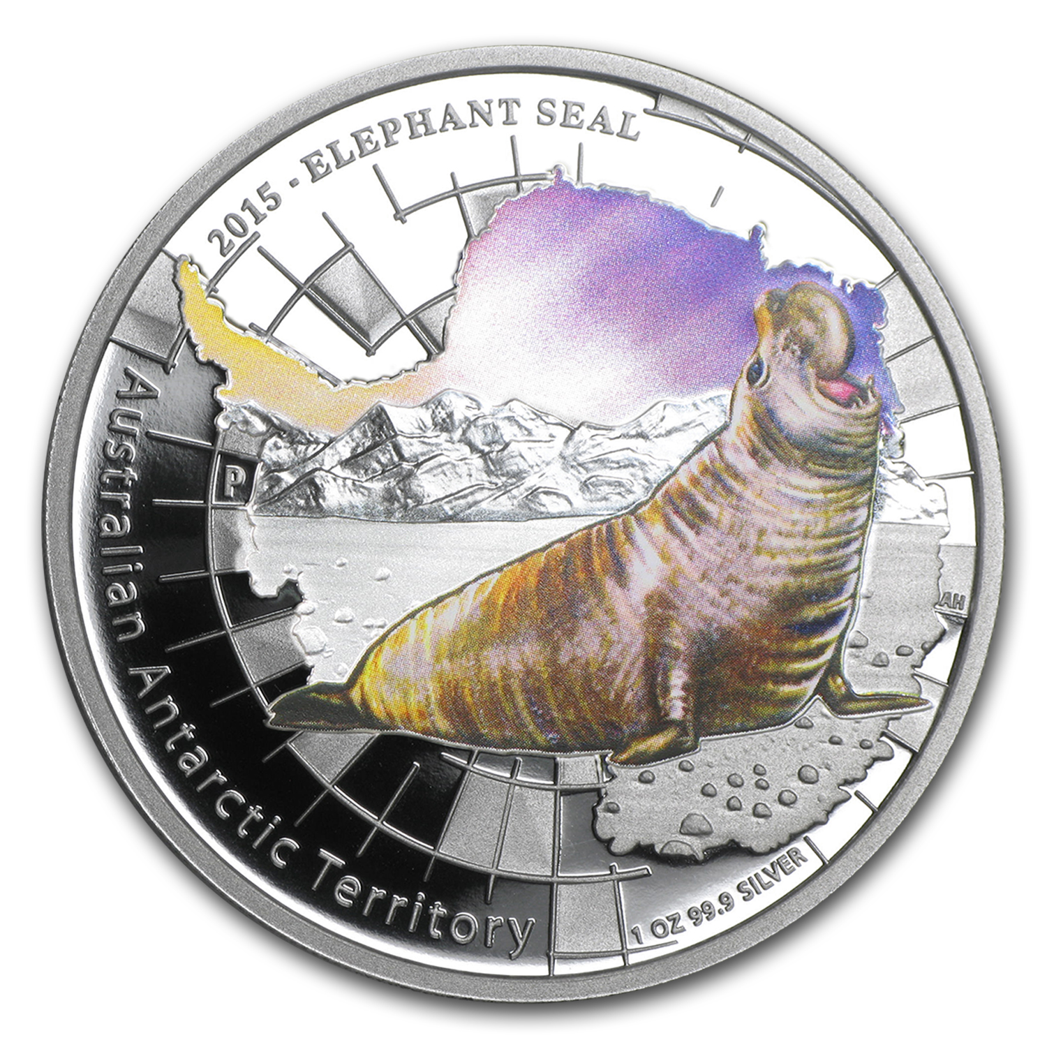 2015 Australia 1 oz Silver Elephant Seal Proof
