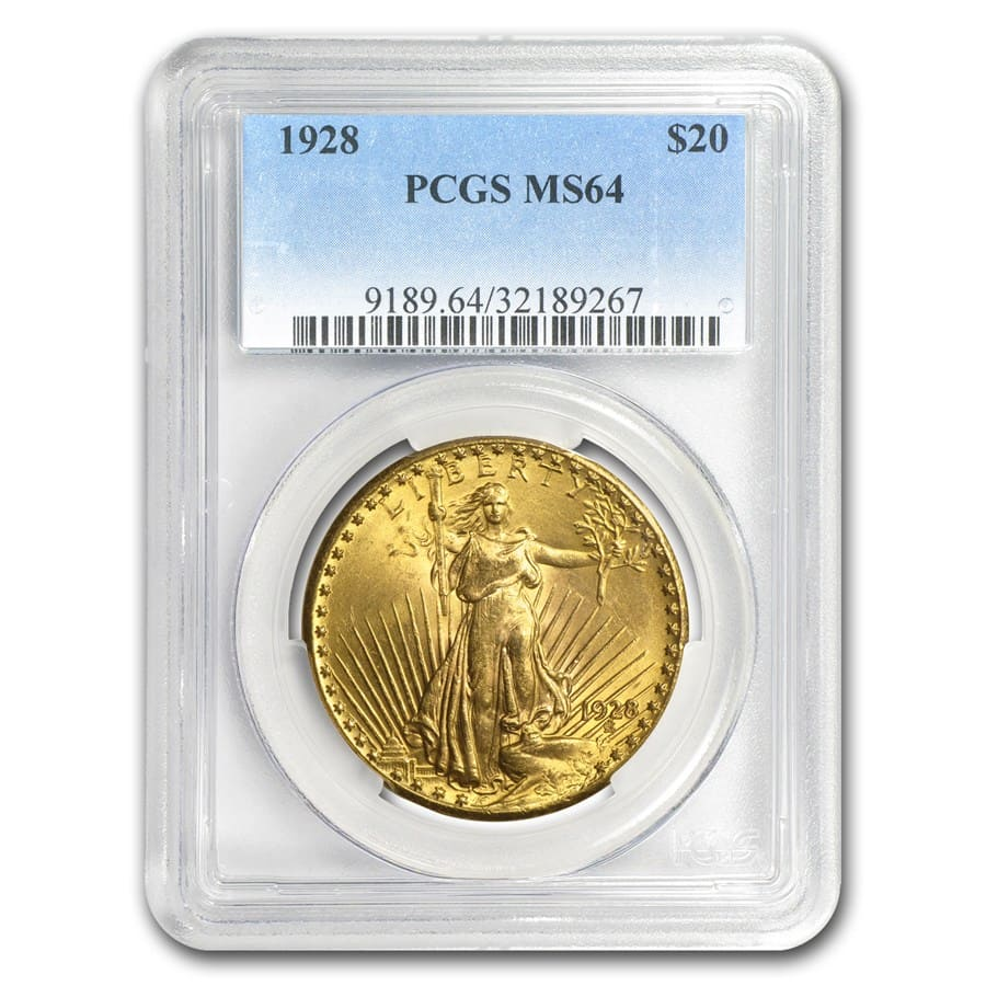 7-Coin $20 St. Gaudens Gold Double Eagle Date Set MS-64 PCGS