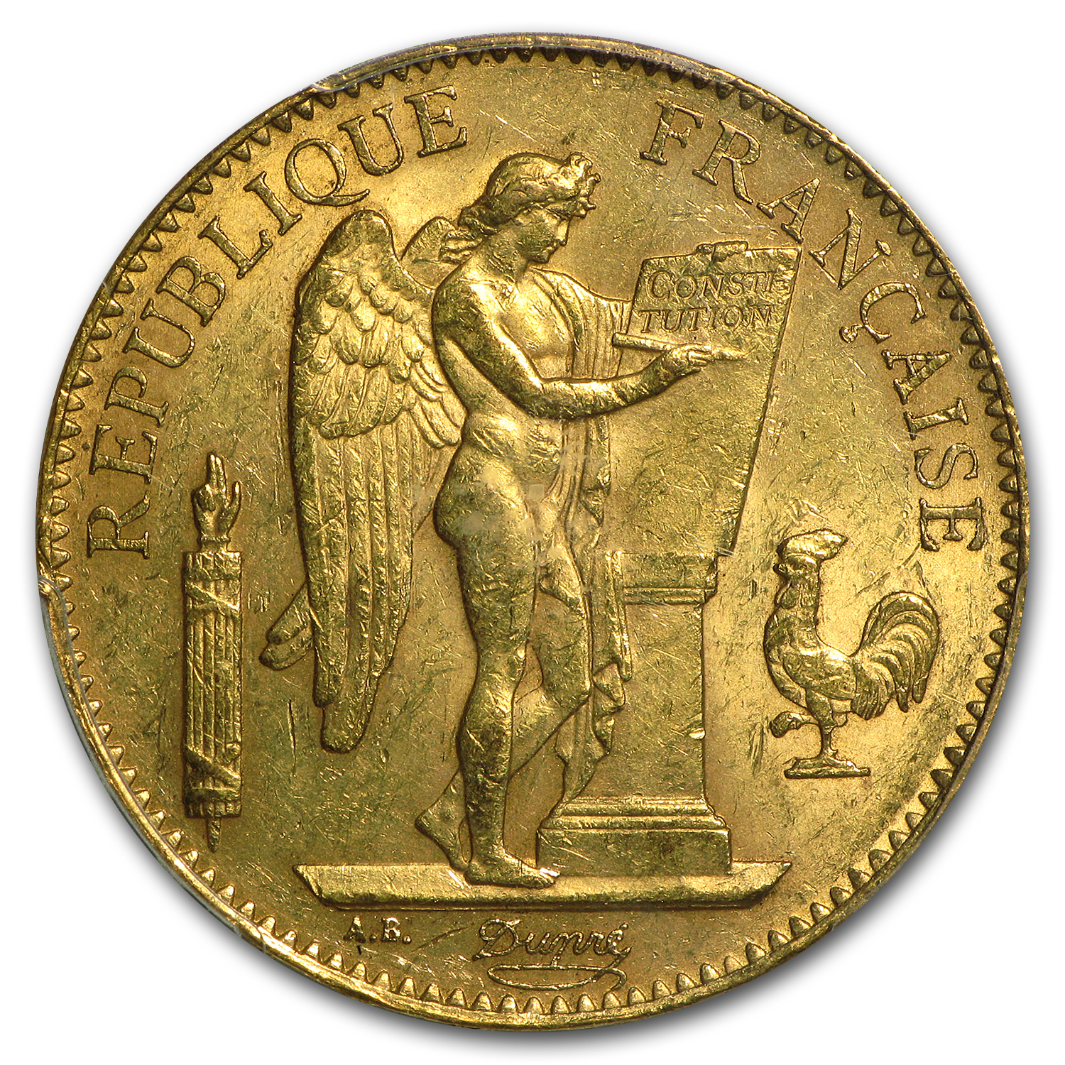 1878-1914 France Gold 100 Francs Lucky Angel BU