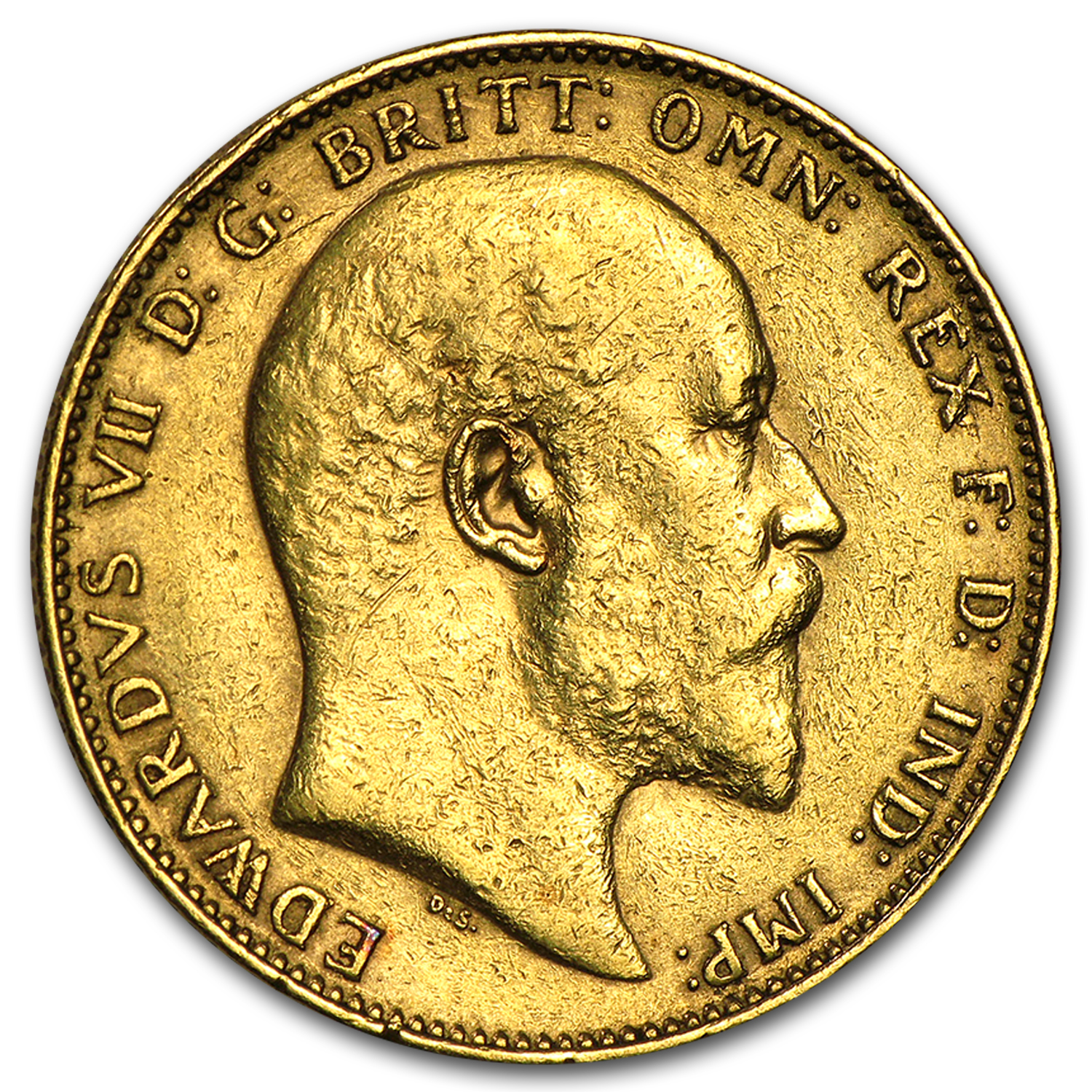 1902-1910 Great Britain Gold Sovereign Edward VII (Scruffy)