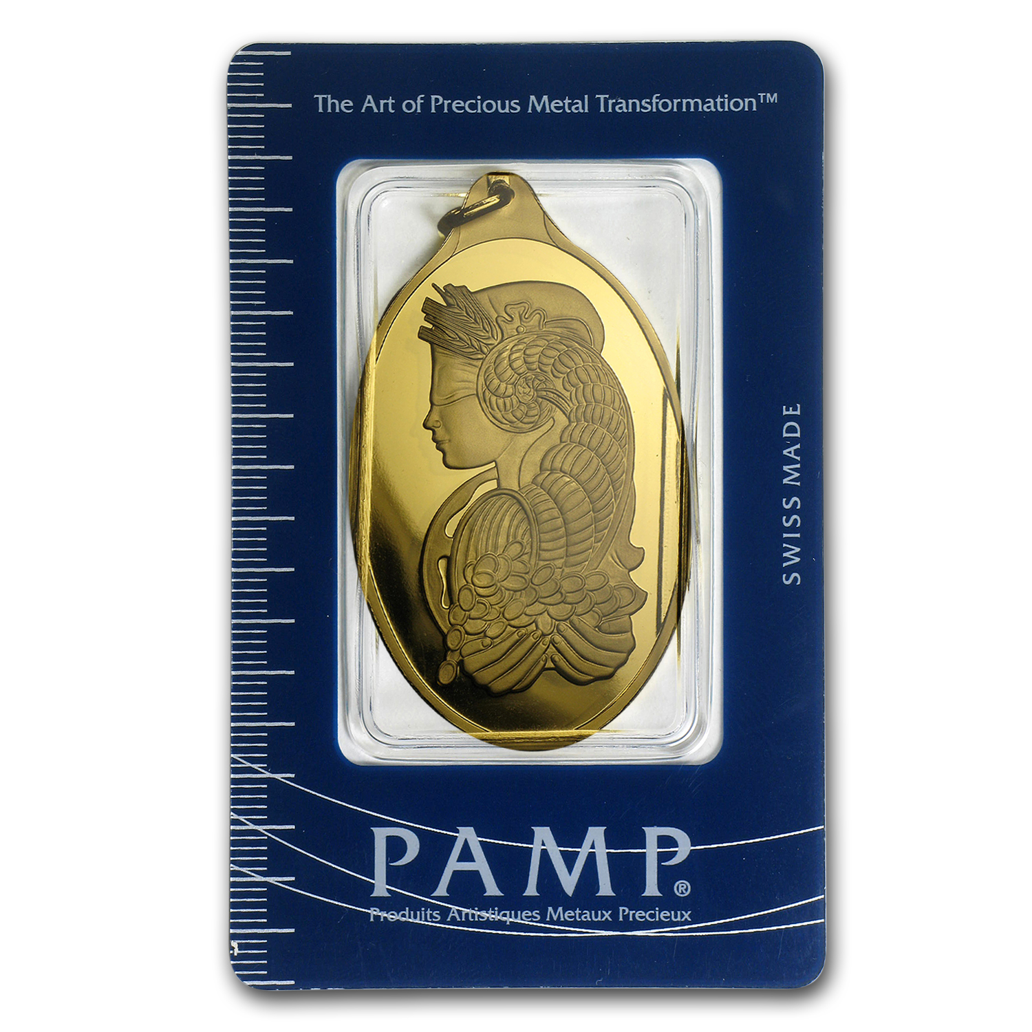 20 gram Gold Pendant - Pamp Suisse (Fortuna, Oval, w/Assay)