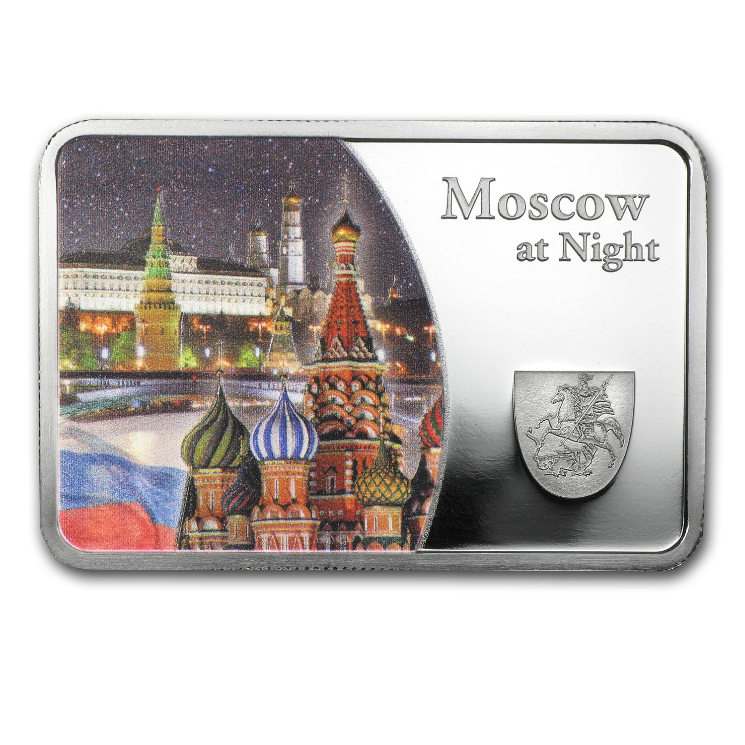 2015 Samoa Silver Moscow at Night Coin Bar Proof