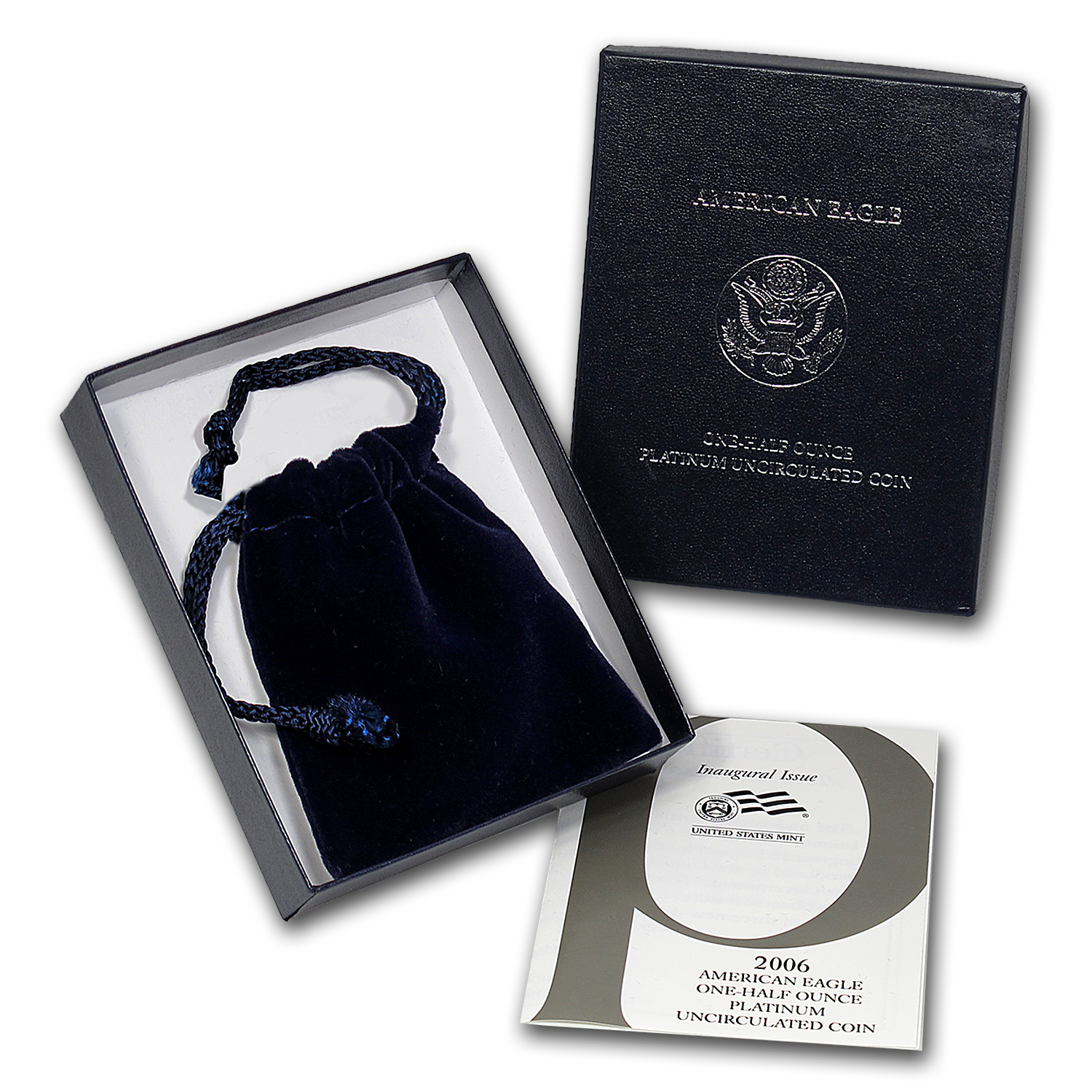 U.S. Mint Box - 2006 1/2 oz Burnished Platinum Eagle Coin