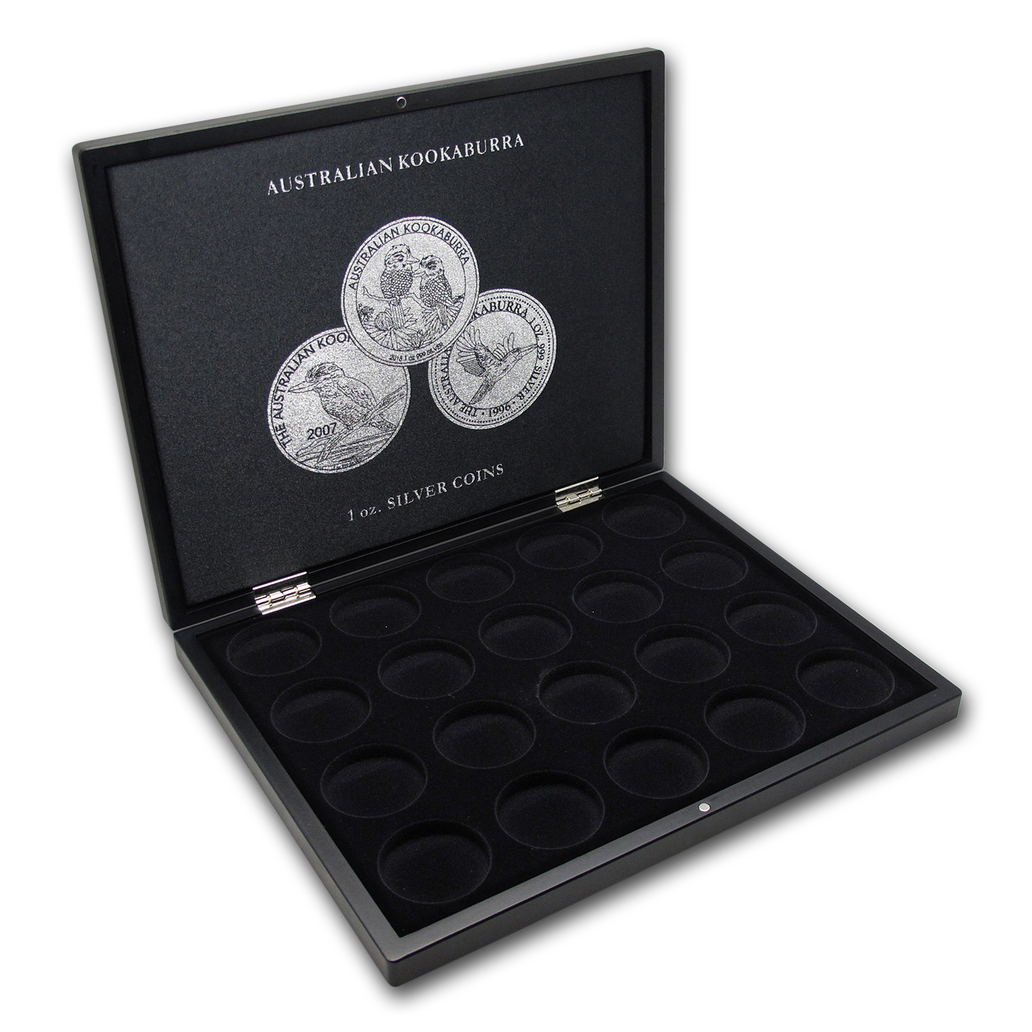 1 oz Australian Silver Kookaburra 20-Piece Black Presentation Box