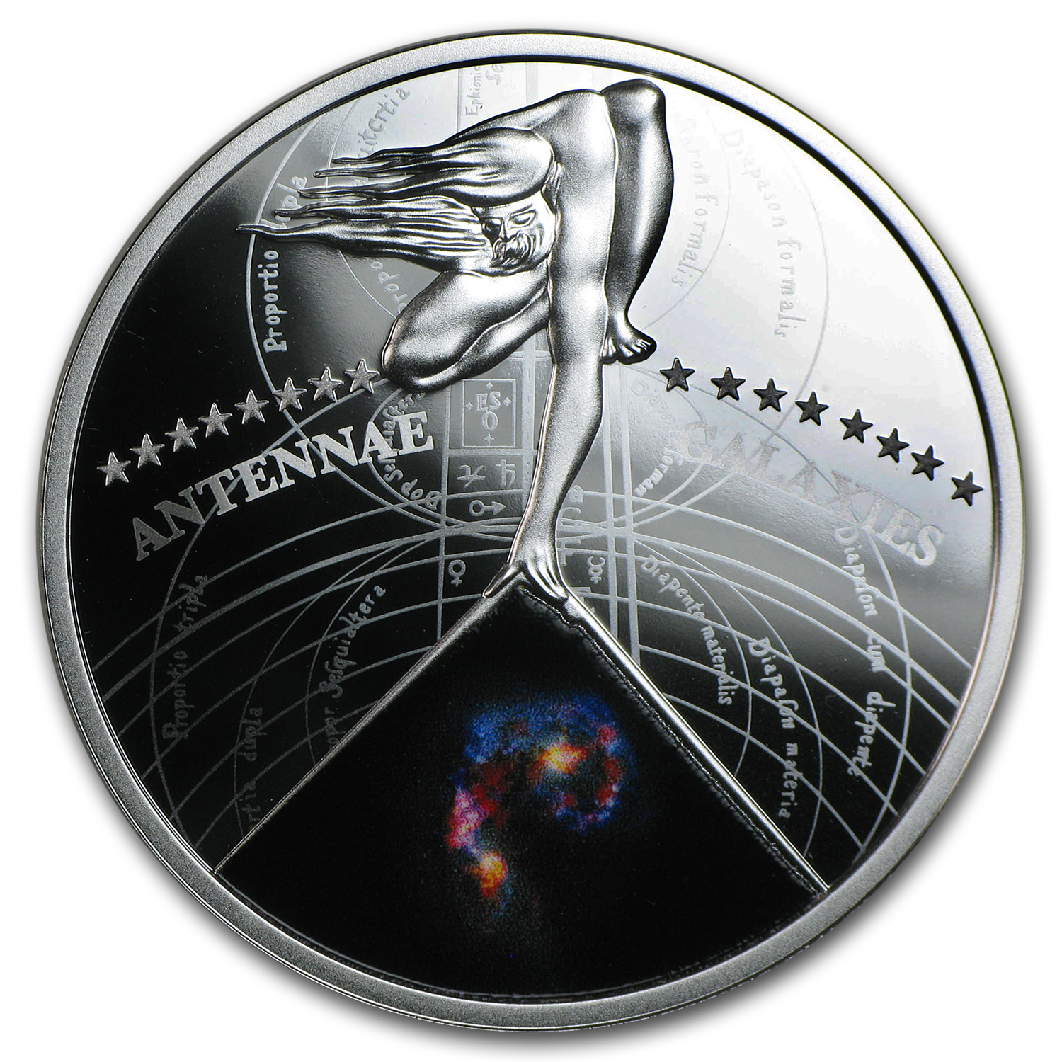2015 Niue Silver Stunning Galaxies (Antennae)