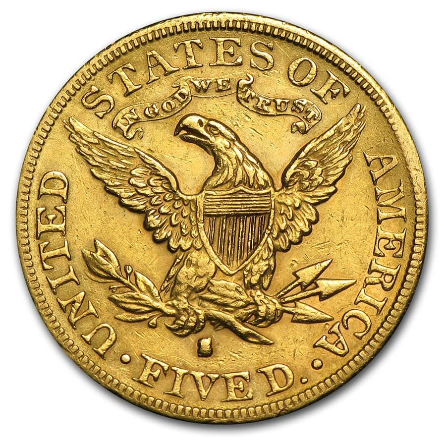 $5 Liberty Gold Half Eagle - Cleaned