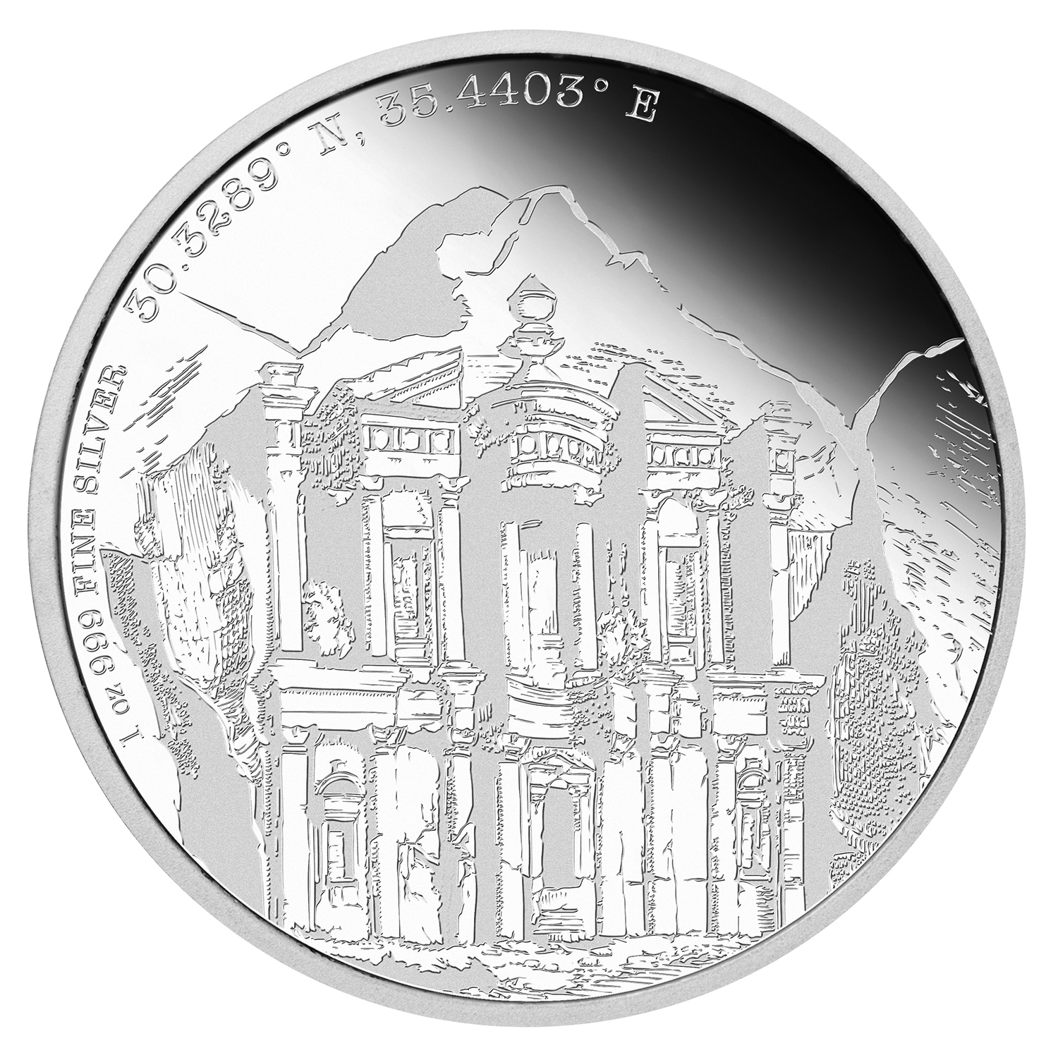 2015 Niue Proof 1 oz Silver Forgotten Cities Petra