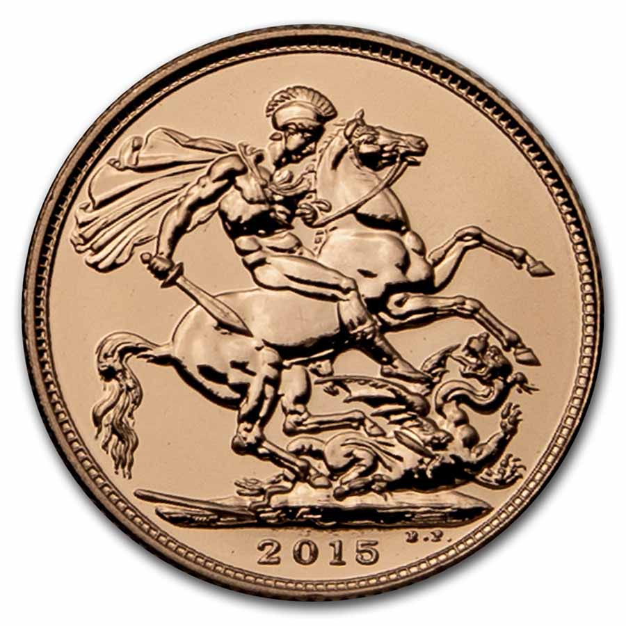 2015 Great Britain Gold Royal Birthday Celebration Sovereign