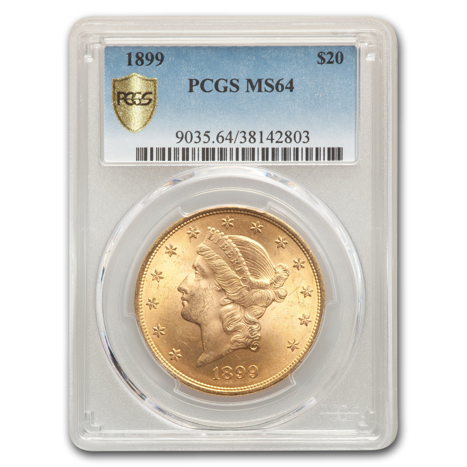 1899 $20 Liberty Gold Double Eagle MS-64 PCGS
