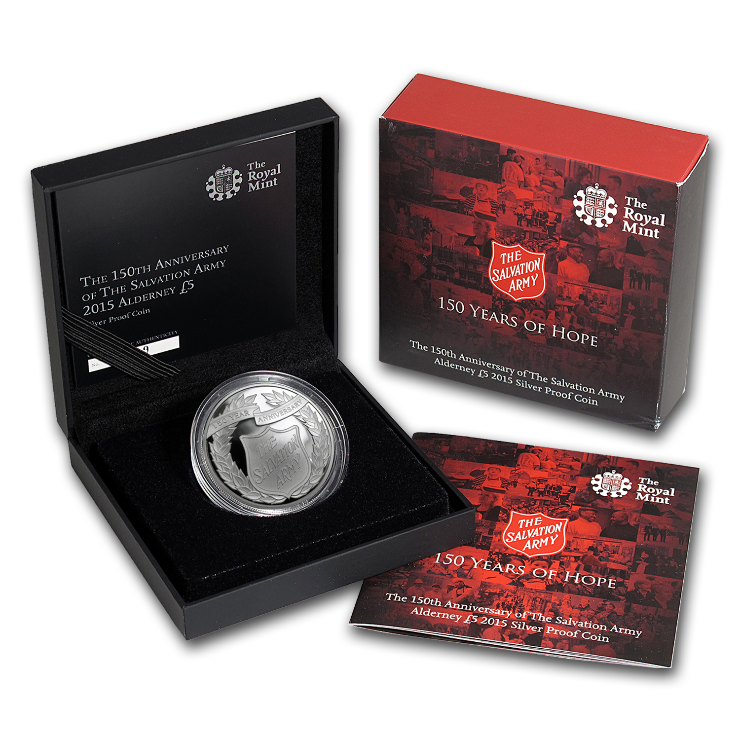 2015 Great Britain £5 Silver Salvation Army 150th Anniv Proof