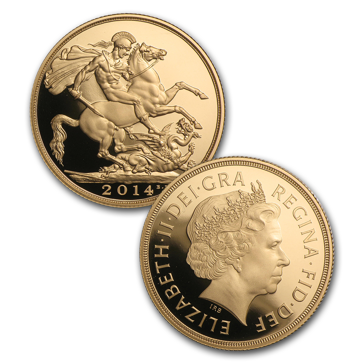 2014 Great Britain 5-Coin Gold Sovereign Proof Set