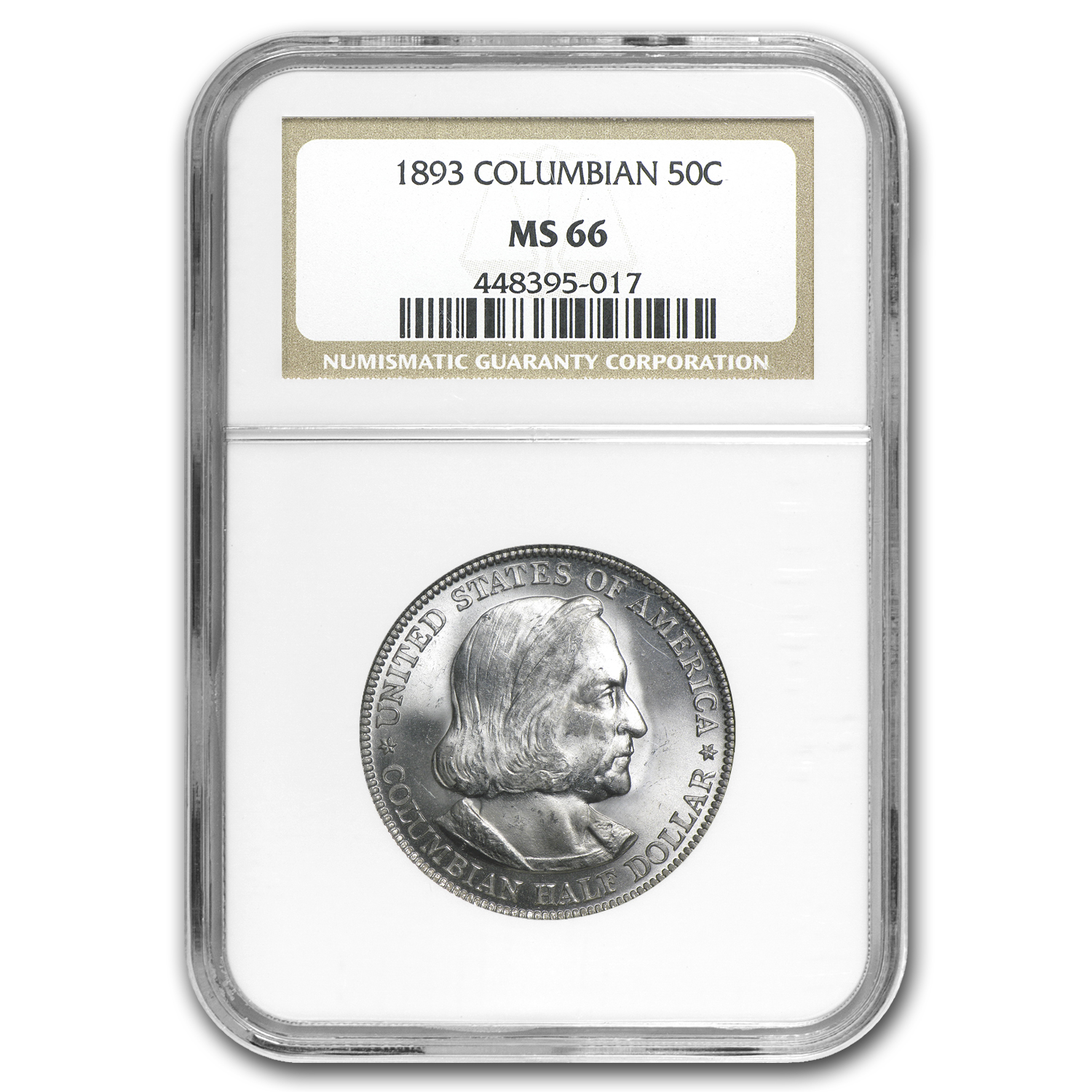 1893 Columbian Expo Half Dollar MS-66 NGC
