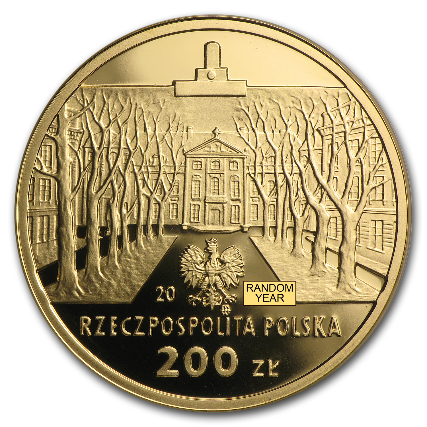 Poland Gold Proof 200 Zlotych (Random Date)