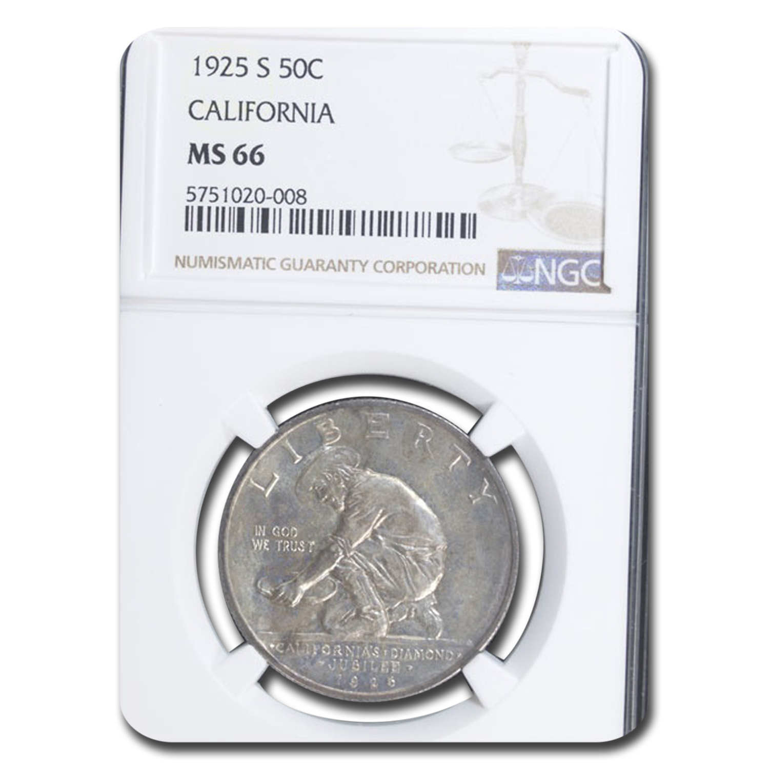1925-S California Half Dollar MS-66 NGC