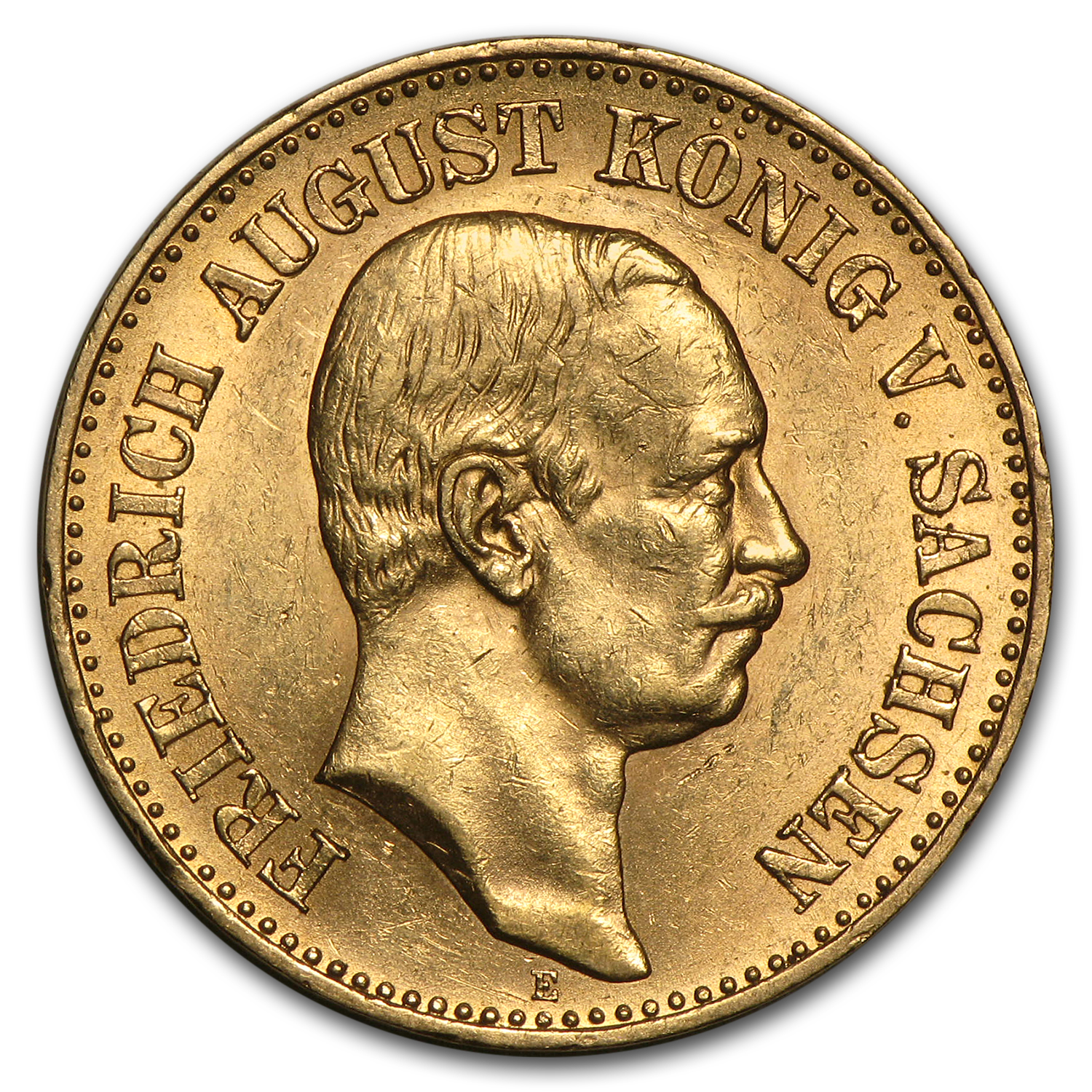 1905-1914 Germany Gold 20 Mark Saxony Friedrich August Avg Circ