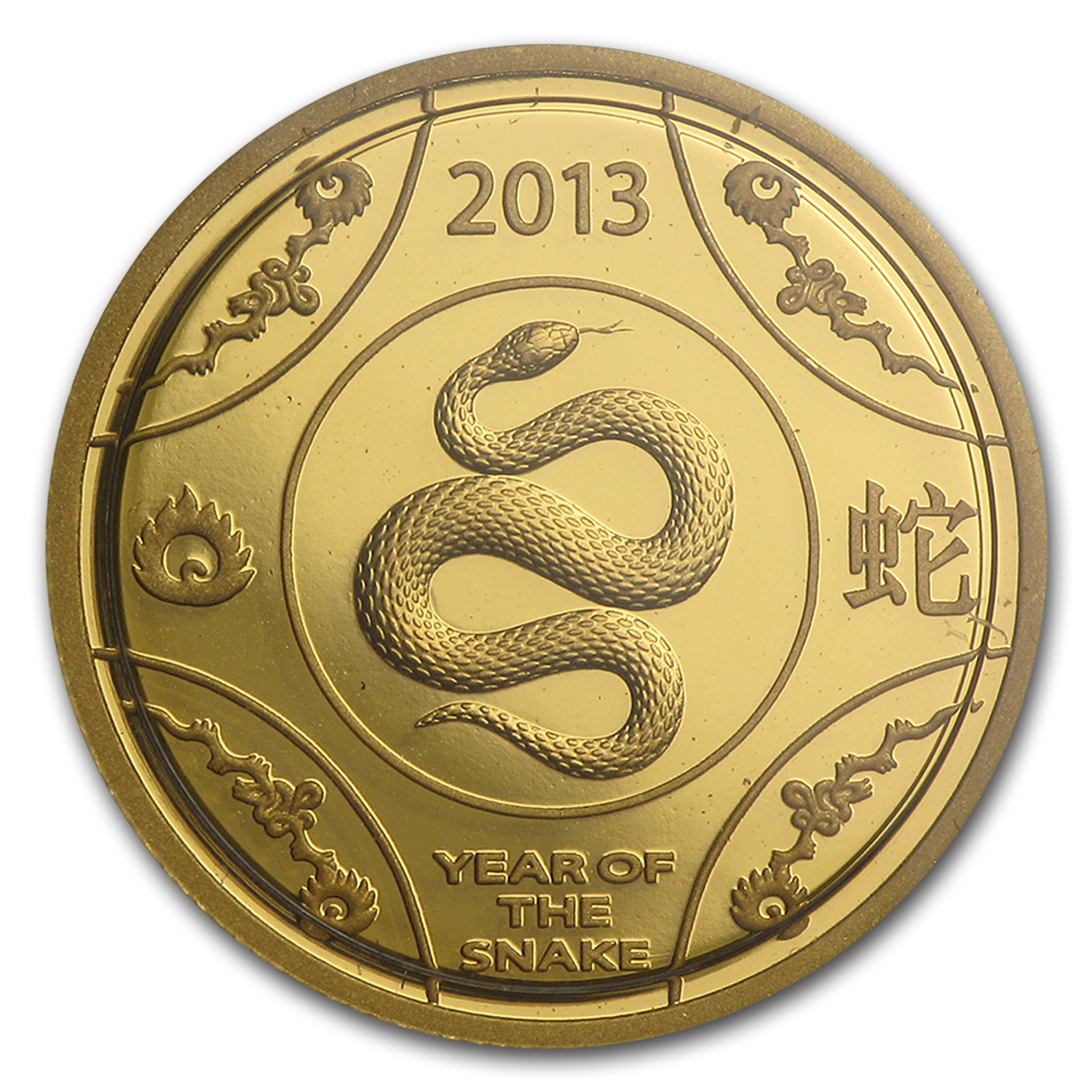 2013 Australia 1/10 oz Proof Gold Year of the Snake