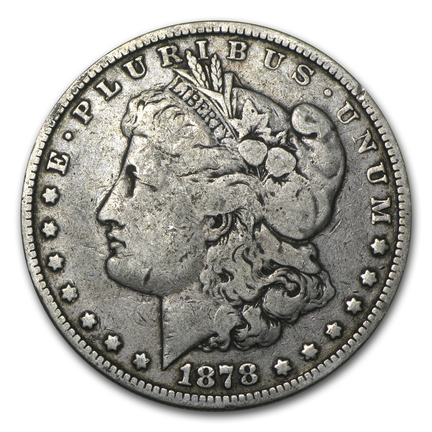 1878 Morgan Dollar 8 Tailfeathers VG/VF