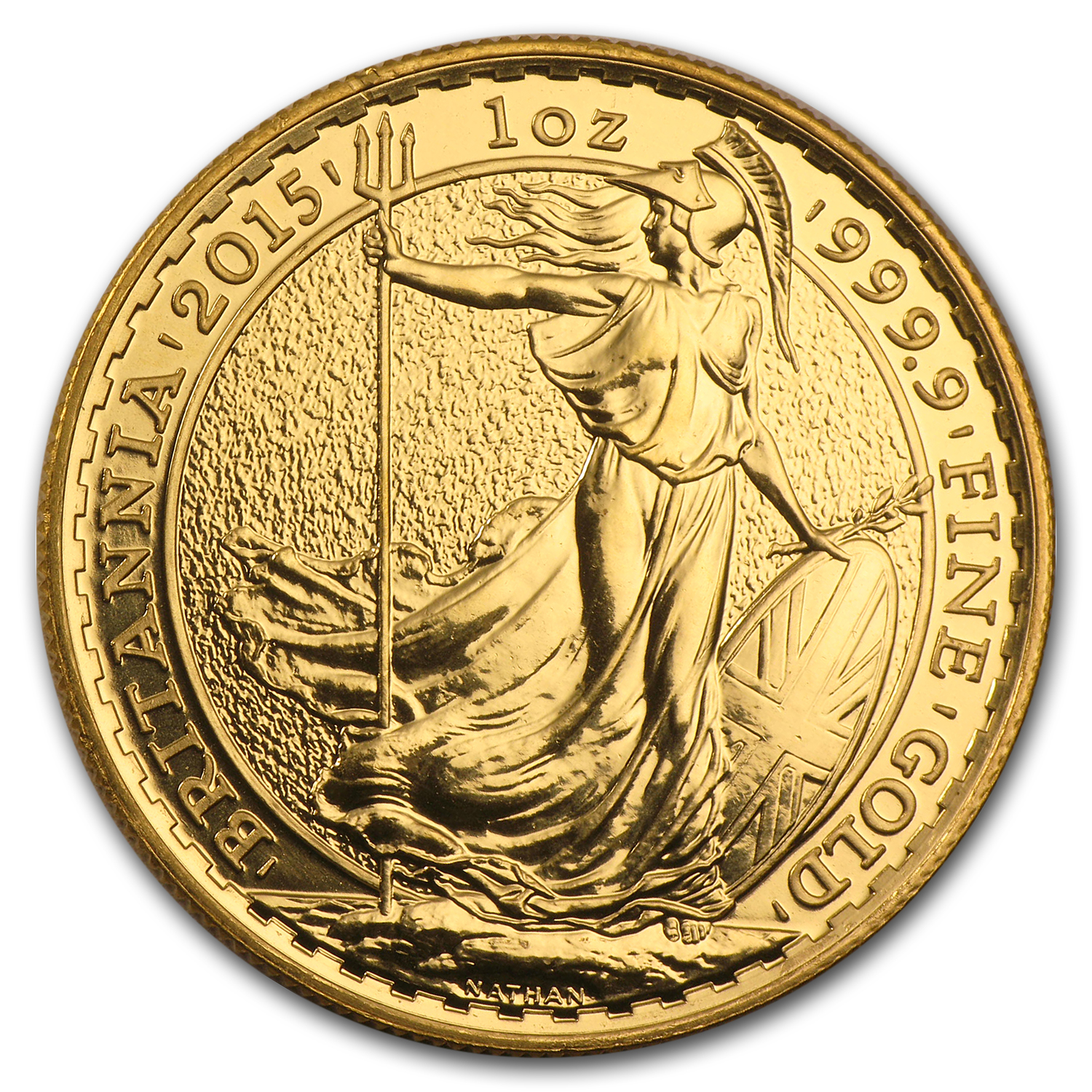 2015 Great Britain Gold 1 oz Britannia (Abrasions)