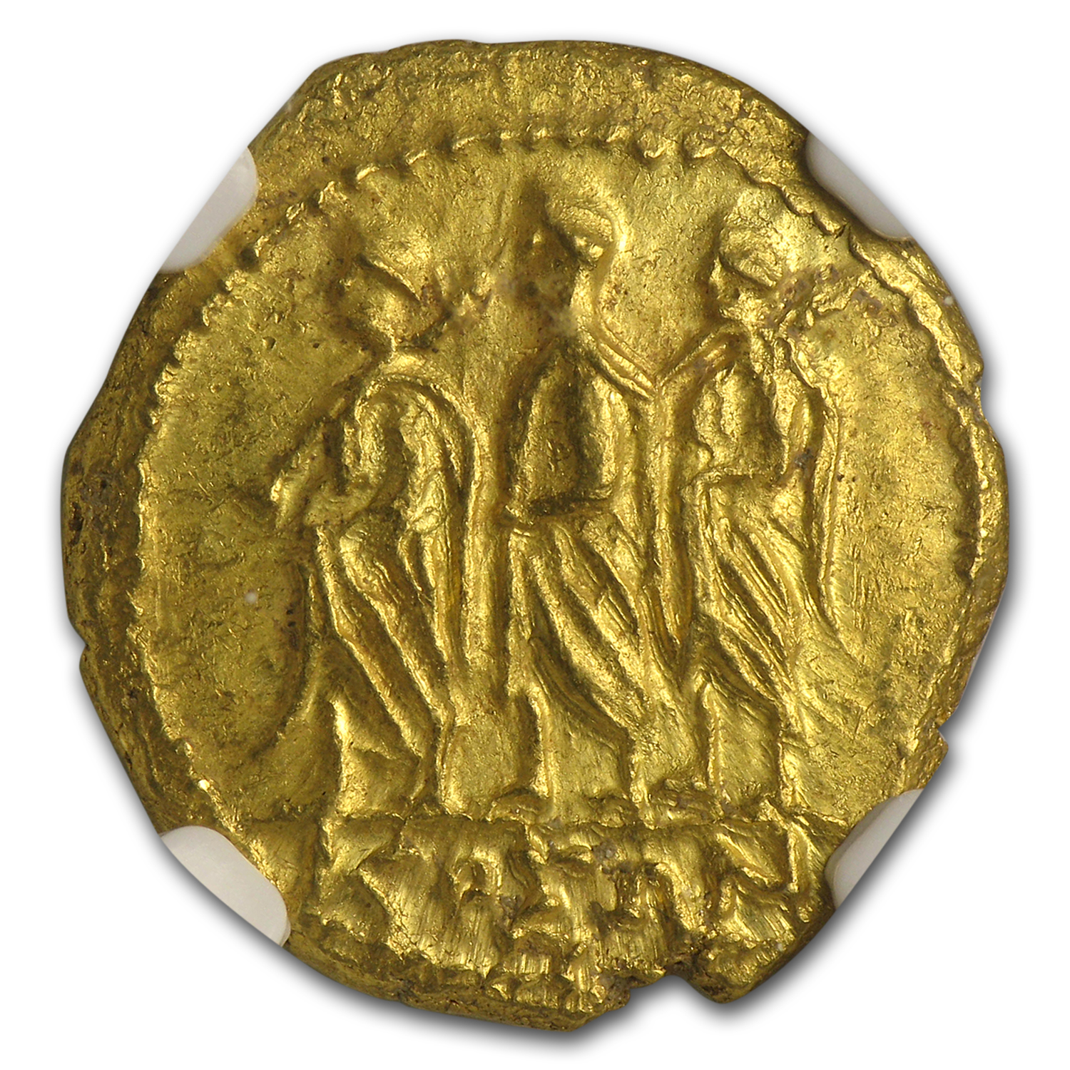 Thracian/Scythian Gold Stater (1st Century BC) Ch MS NGC