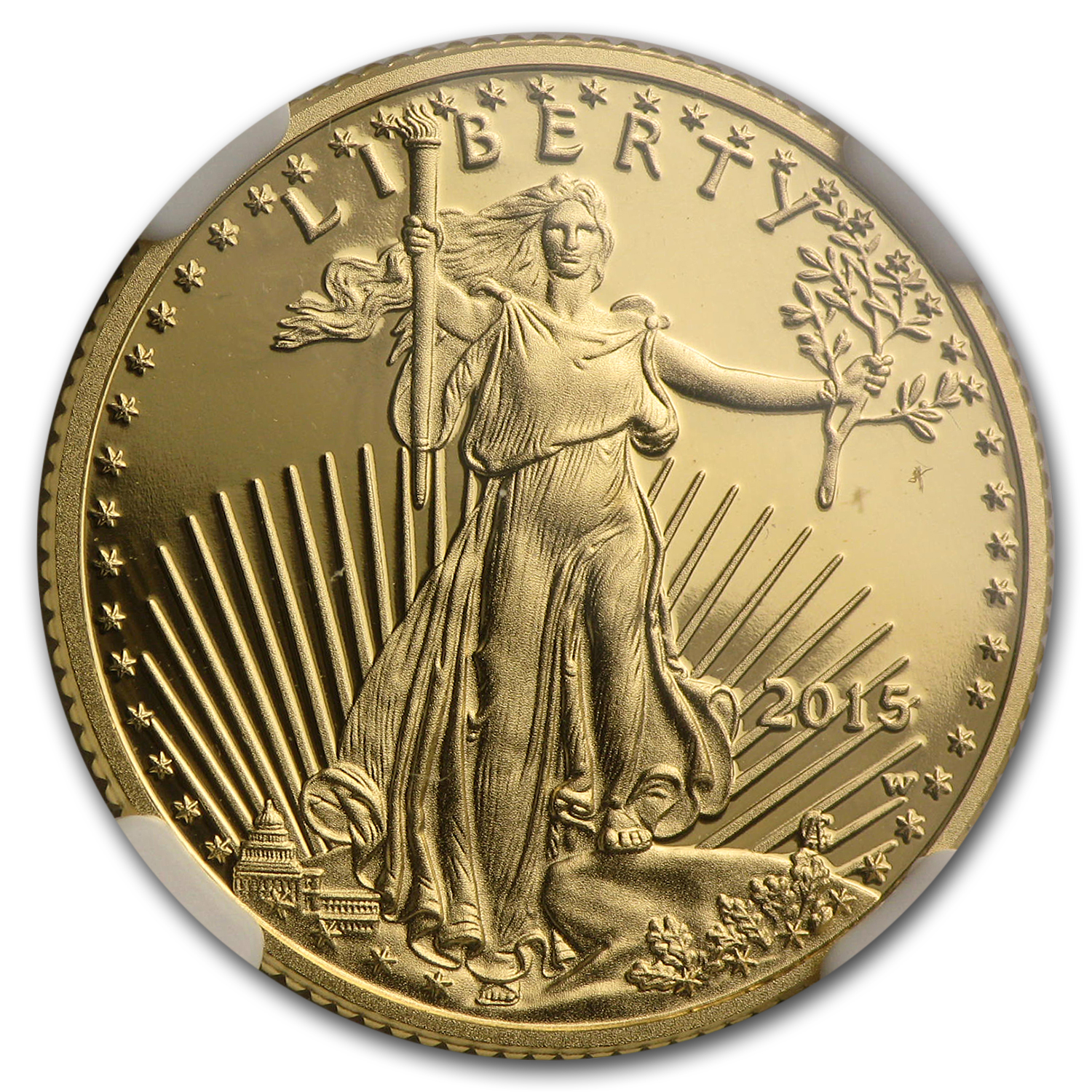 2015-W 1/4 oz Proof Gold American Eagle PF-70 NGC