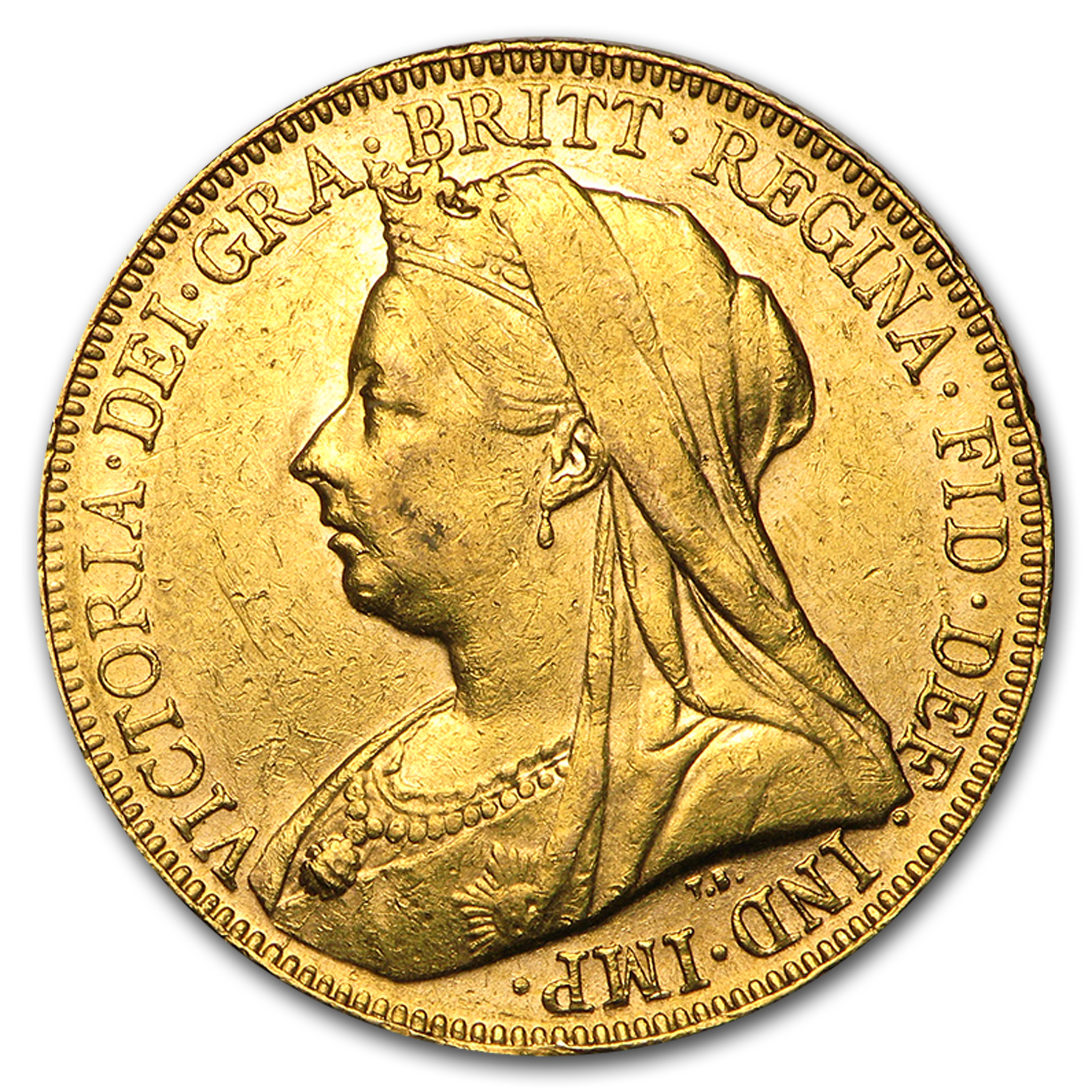 1893-1901-P Australia Gold Sovereign Victoria Veil Head AU