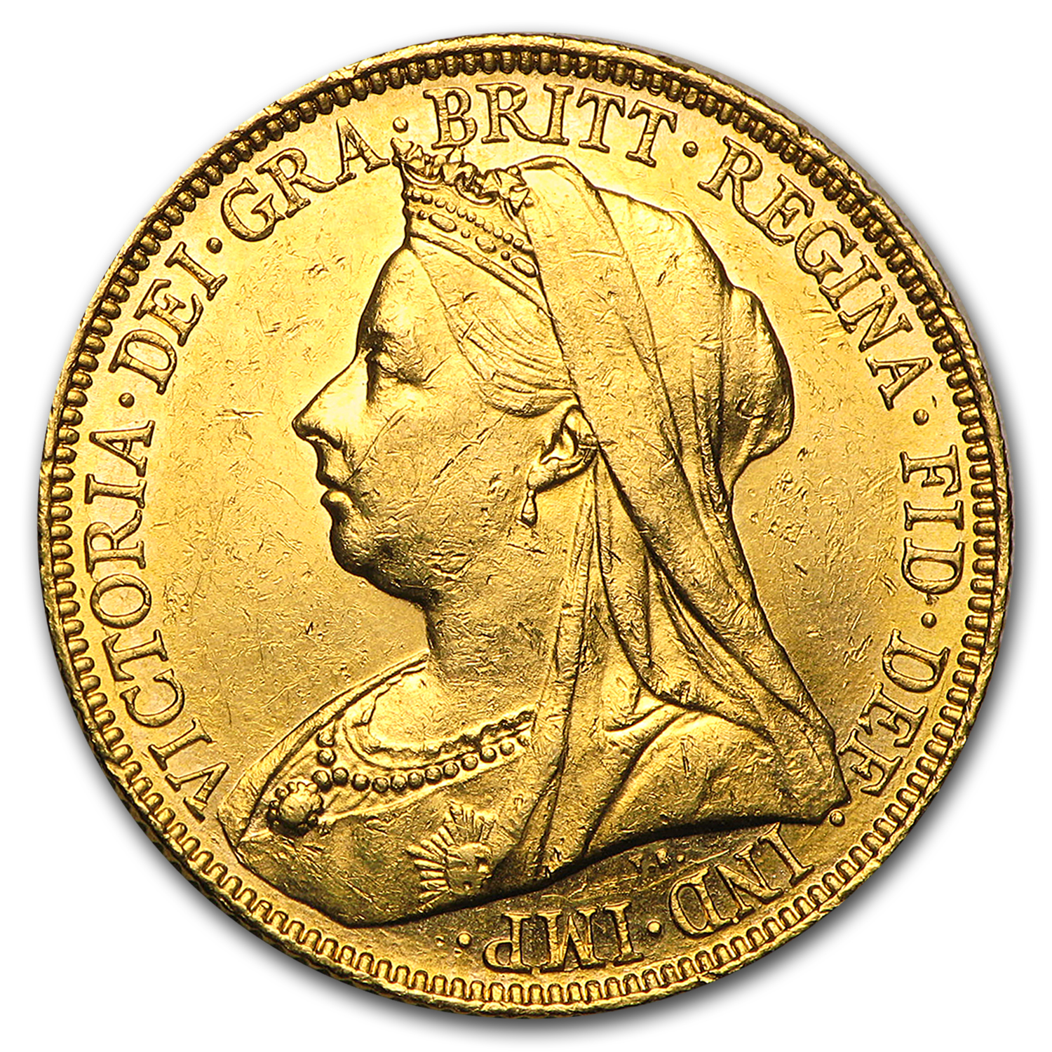 1893-1901-S Australia Gold Sovereign Victoria Veil Head AU