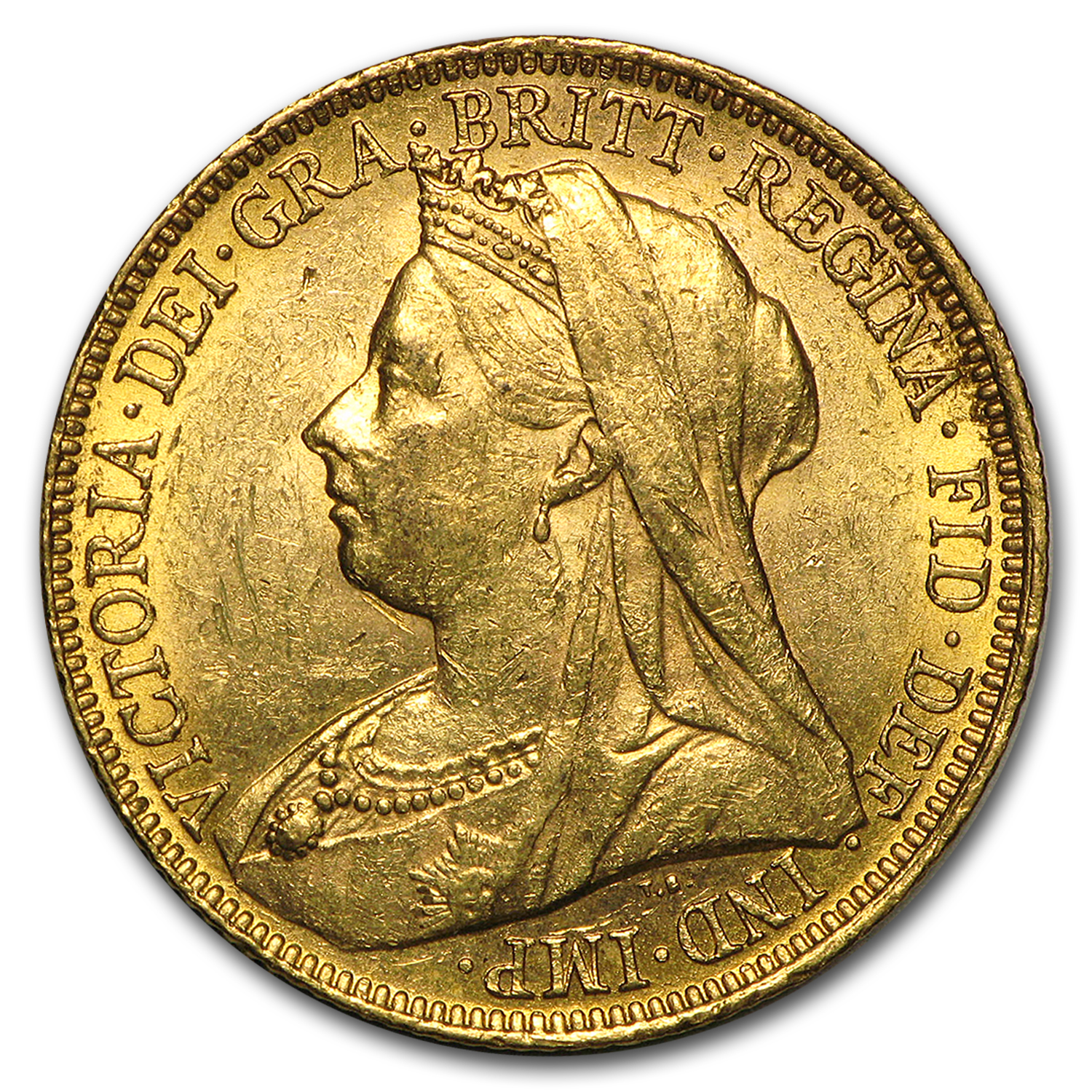 1893-1901-S Australia Gold Sovereign Victoria Veil Head BU