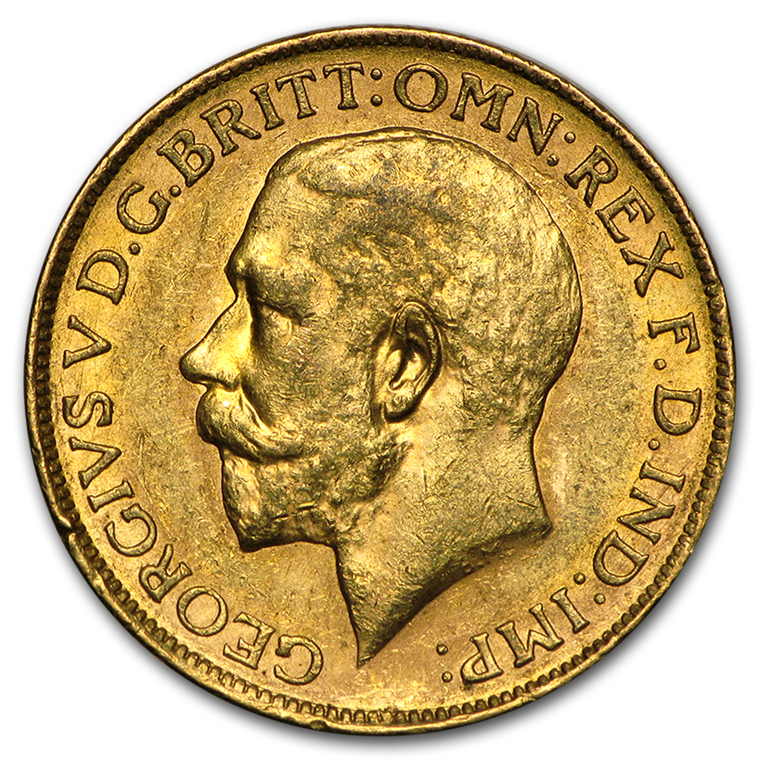 1911-1931-M Australia Gold Sovereign George V Avg Circ
