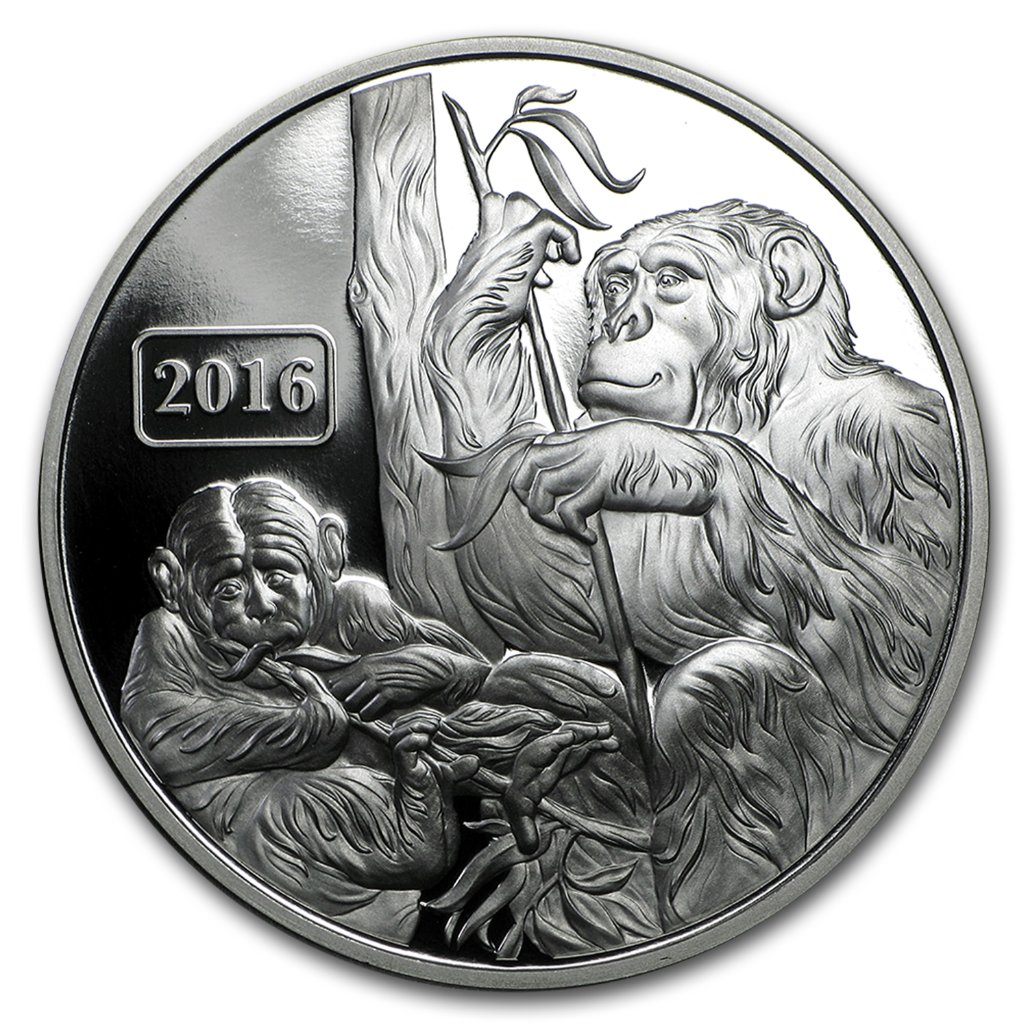 2016 Tokelau 1 oz Proof Silver Year of the Monkey Family