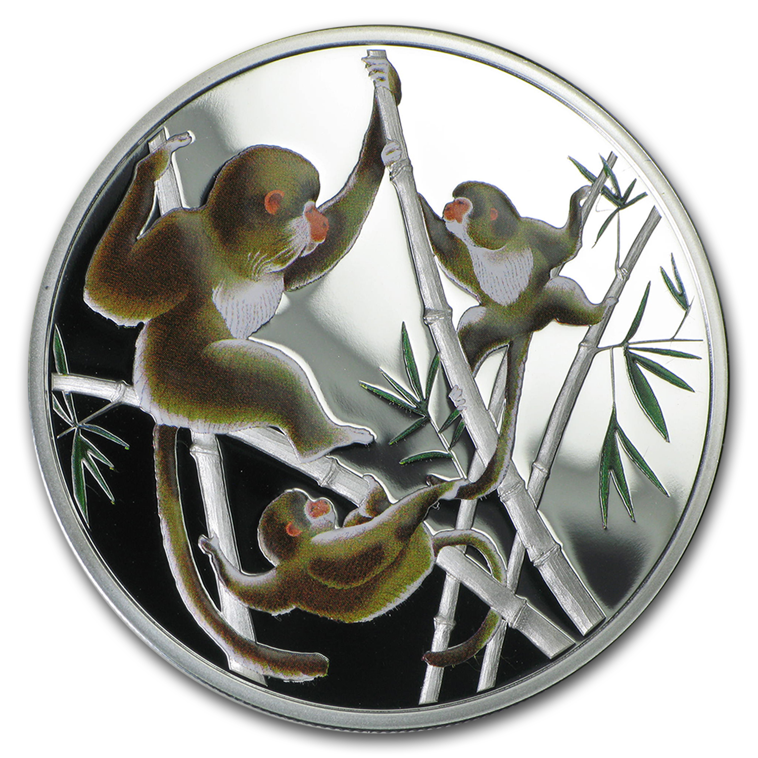 2016 Tokelau 1/2 oz Silver Year of the Monkey Playful in Bamboo