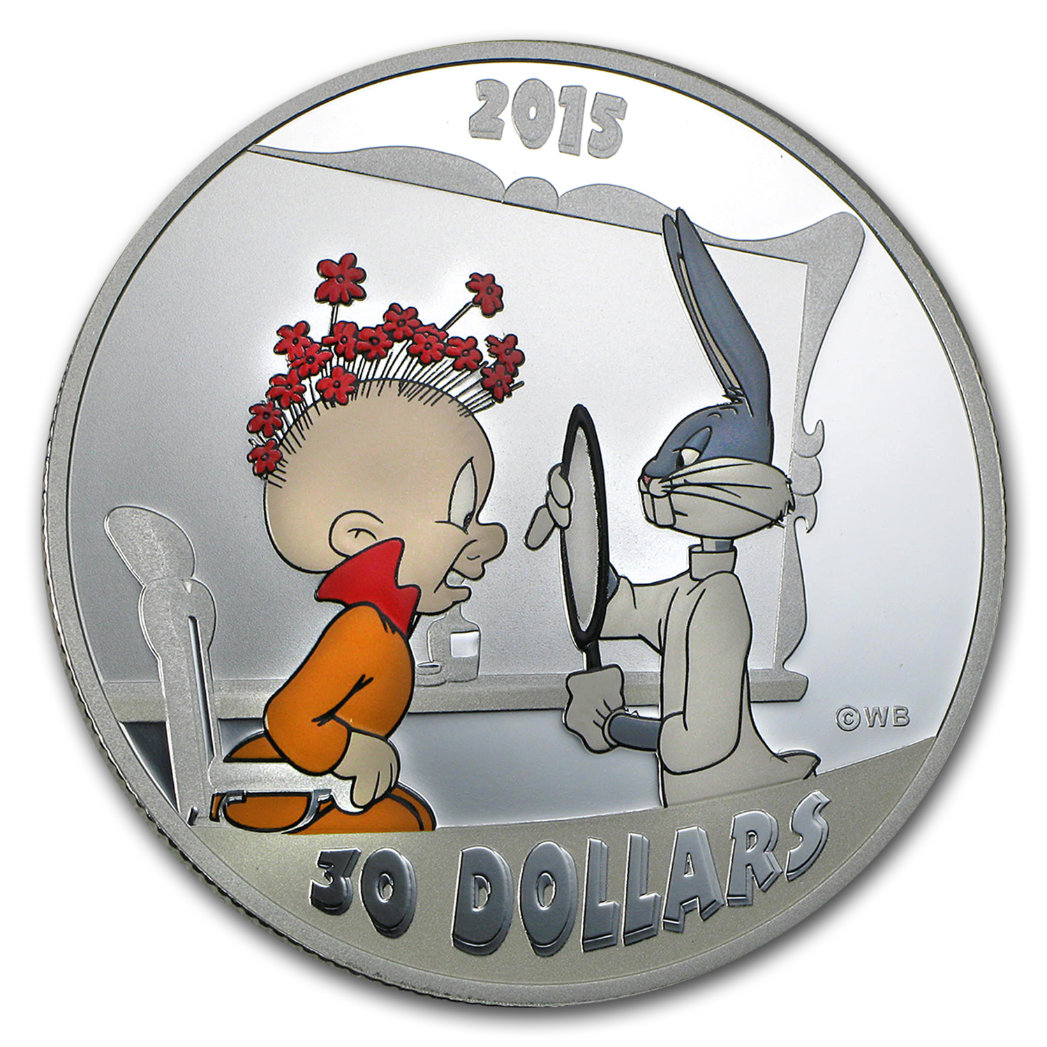 2015 Canada 2 oz Silver $30 Looney Tunes Rabbit of Seville