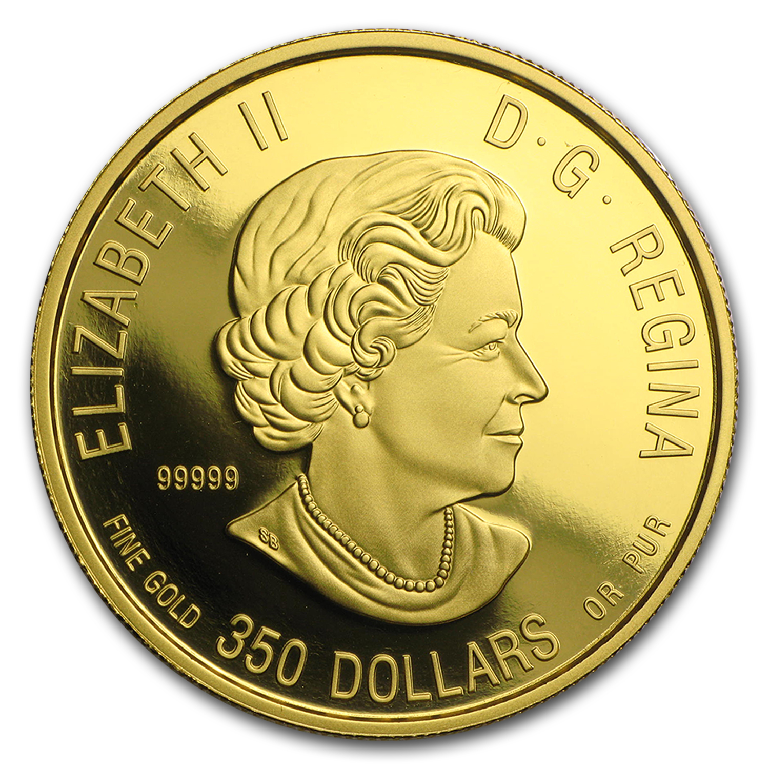 2015 Canada 1 oz Proof Gold $350 Alpha Wolf
