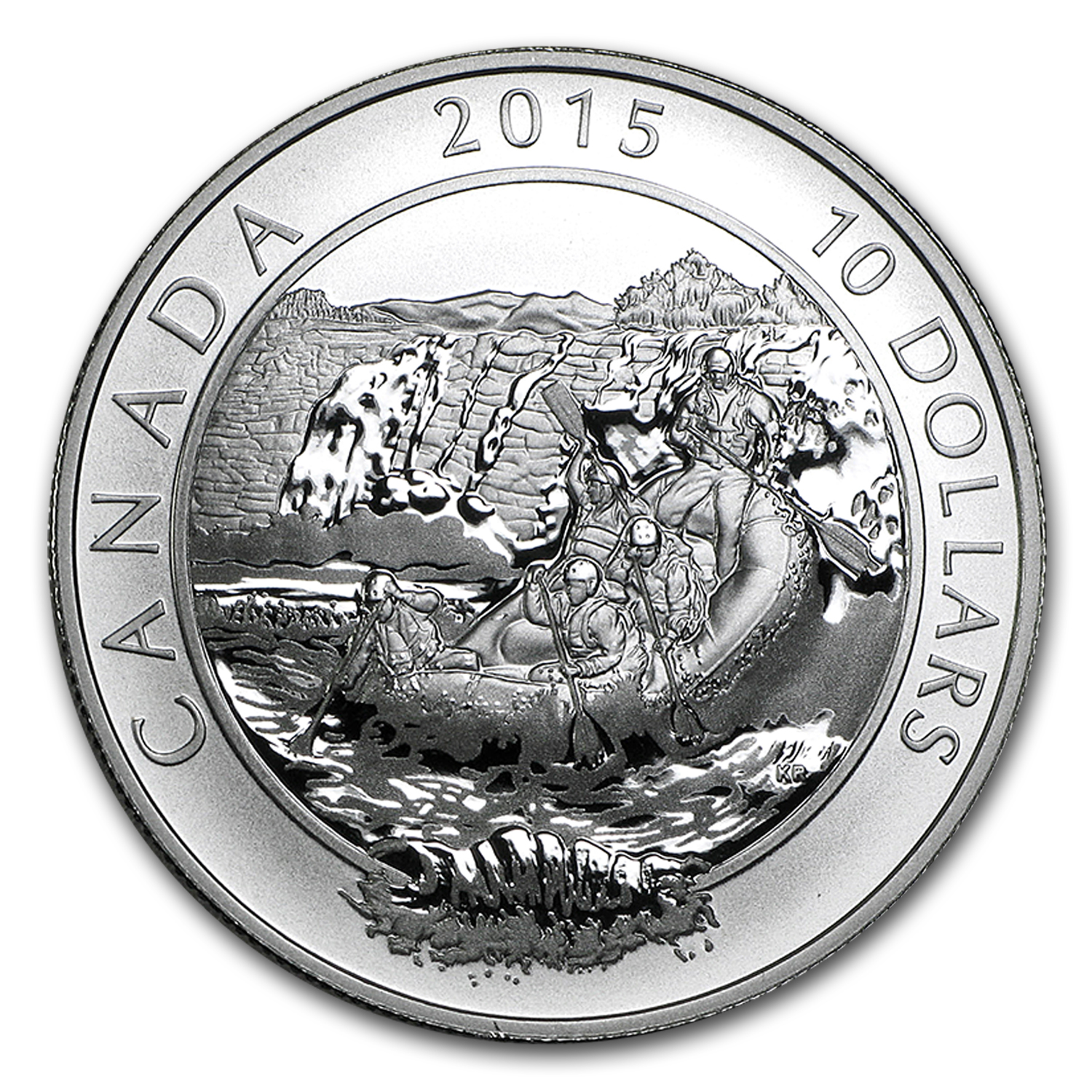 2015 CAN 1/2 oz Silver $10 Adventure Canada: Whitewater Rafting