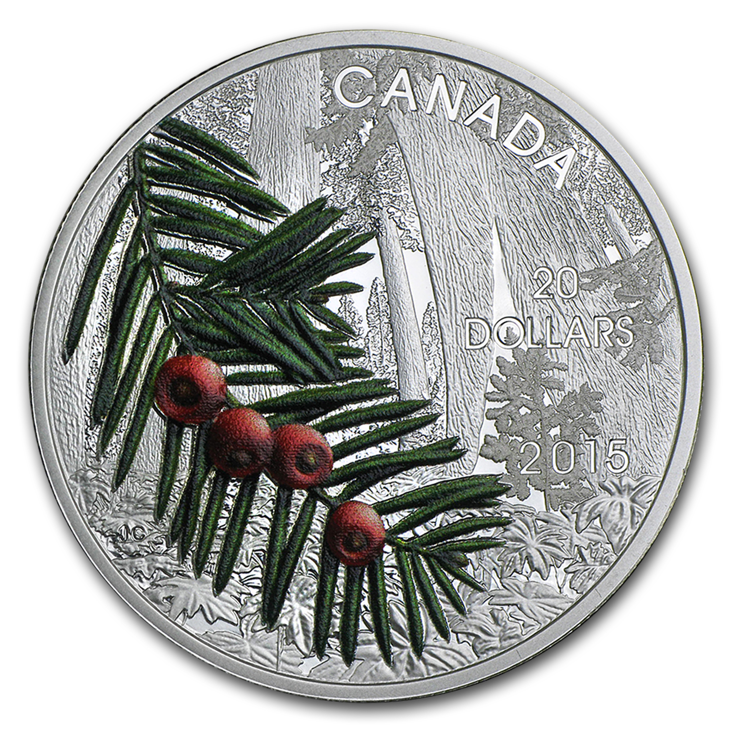 2015 Canada Silver Forests of Canada Columbian Yew Tree