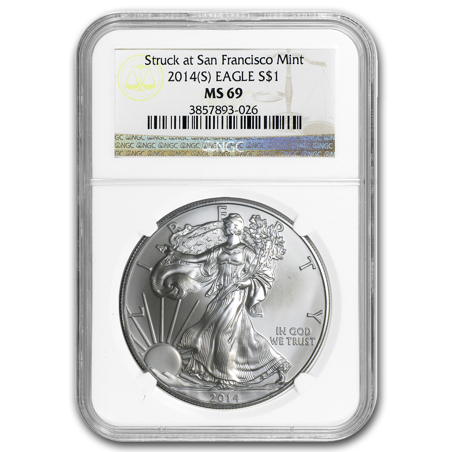 2014 (S) Silver American Eagle MS-69 NGC